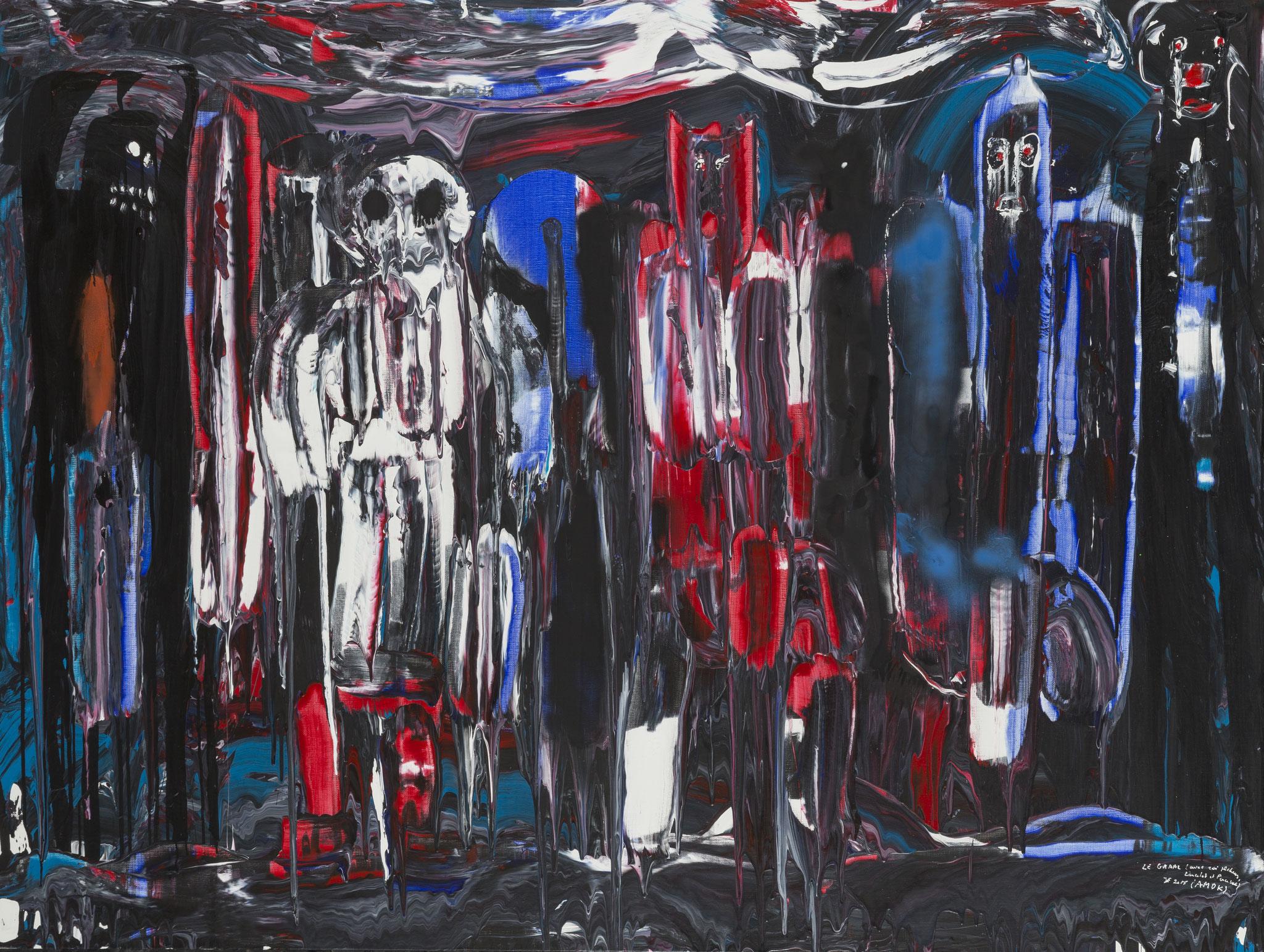 Le Graal (2015) - Acrylique sur toile, 150 x 200 cm