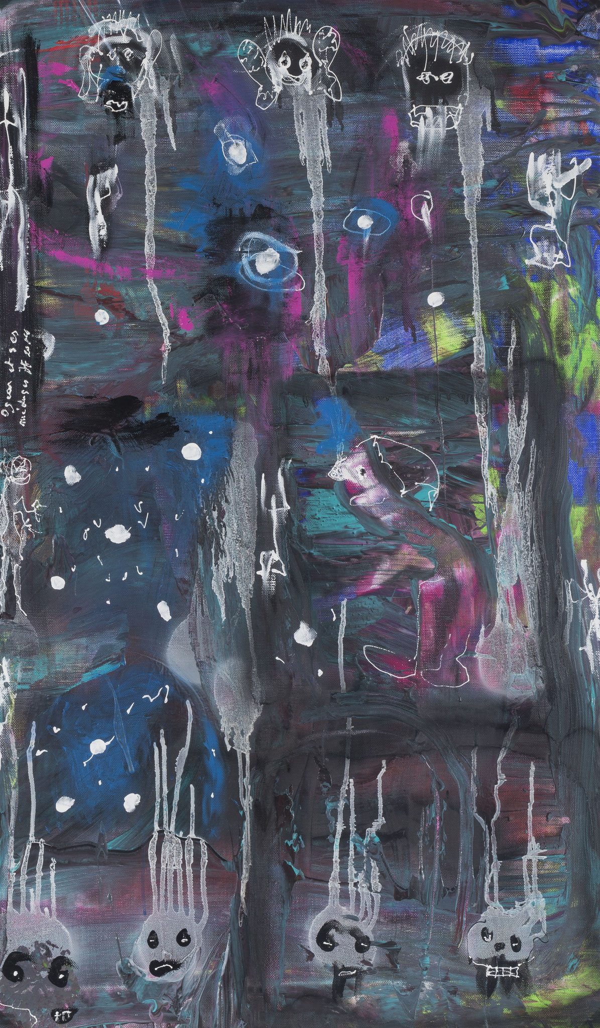 Oscar et ses méduses (2015) - Acrylique sur toile, 115 x 67 cm