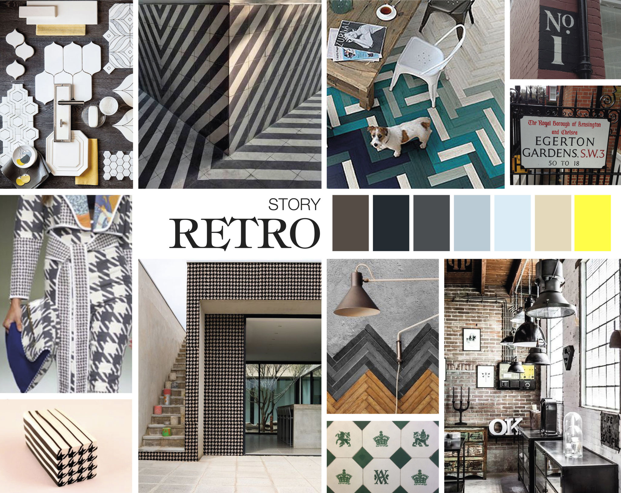 MOODBOARD - Wallpaper - Surface pattern design - GRAHAM & BROWN -Design competition
