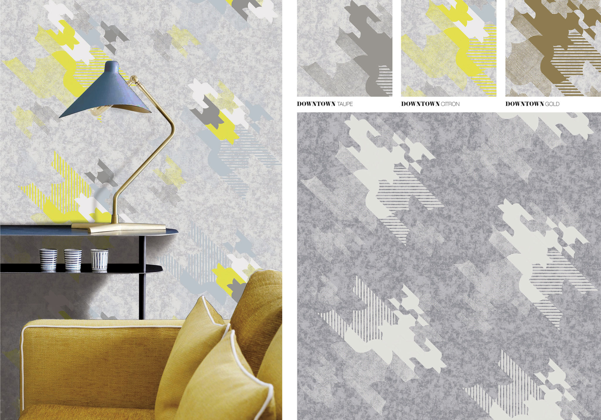 DOWNTOWN - Wallpaper - Surface pattern design - GRAHAM & BROWN -Design competition
