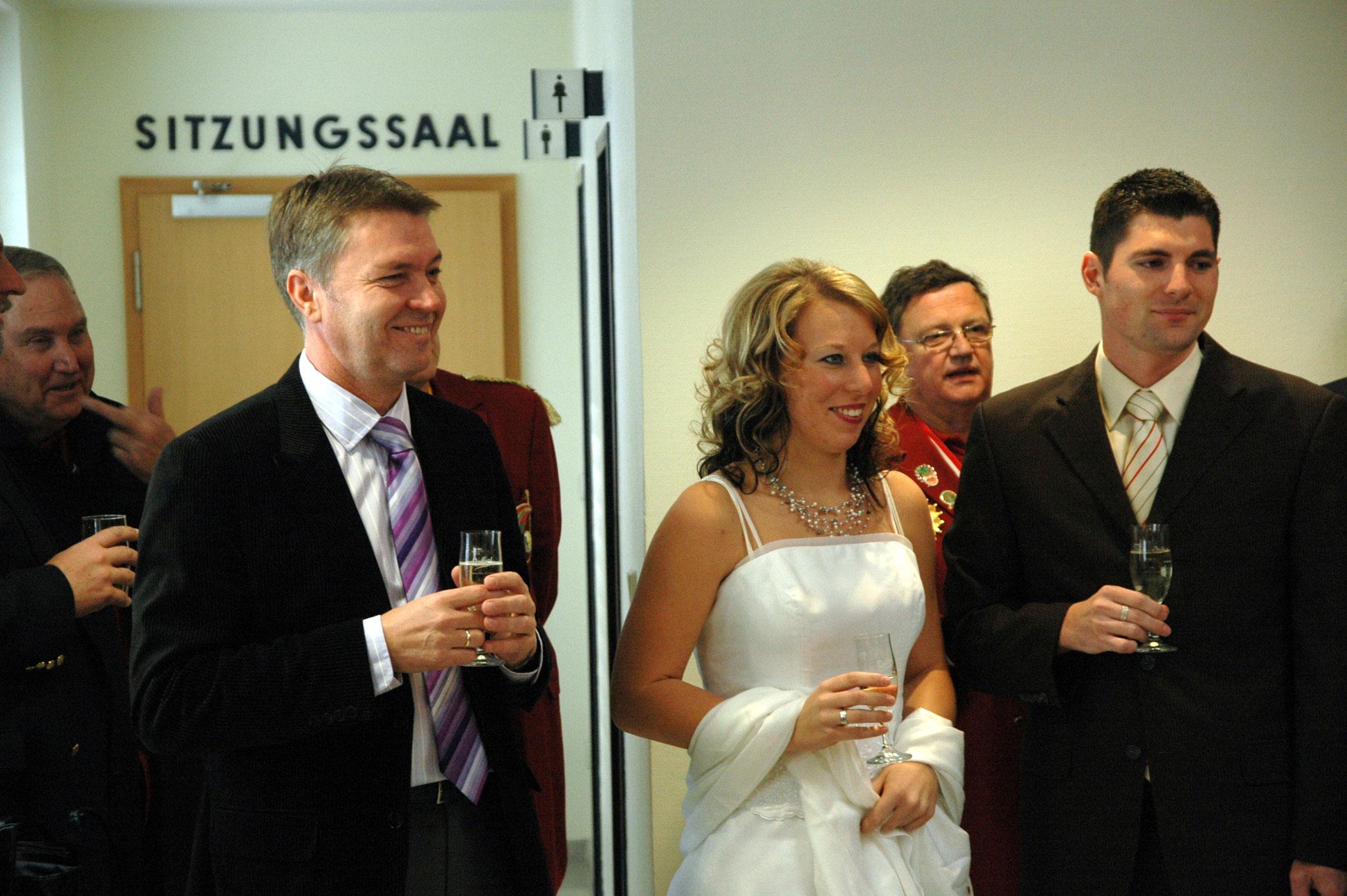 Exzellenz Bürgermeister Rudolf von Geißler freut sich