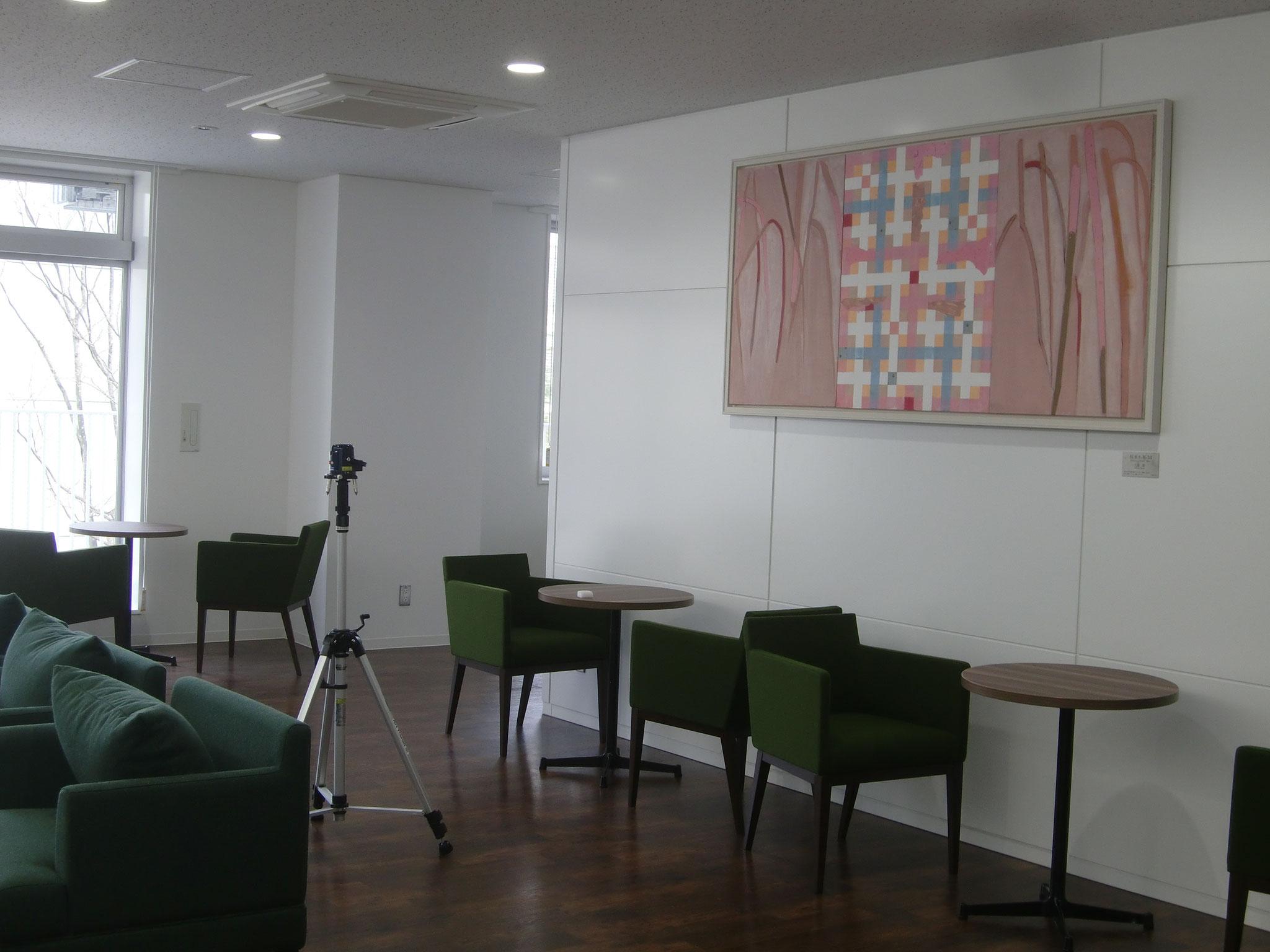 「枝垂れ桜-'14」油彩画 2014年  大森 翠