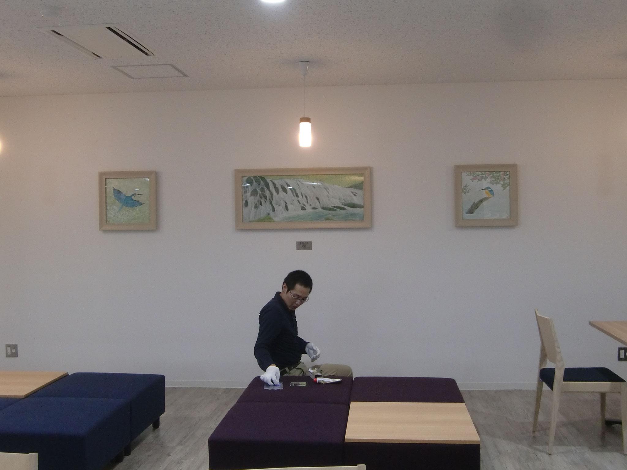 「鳥海山元滝」日本画 2016年  猪熊佳子