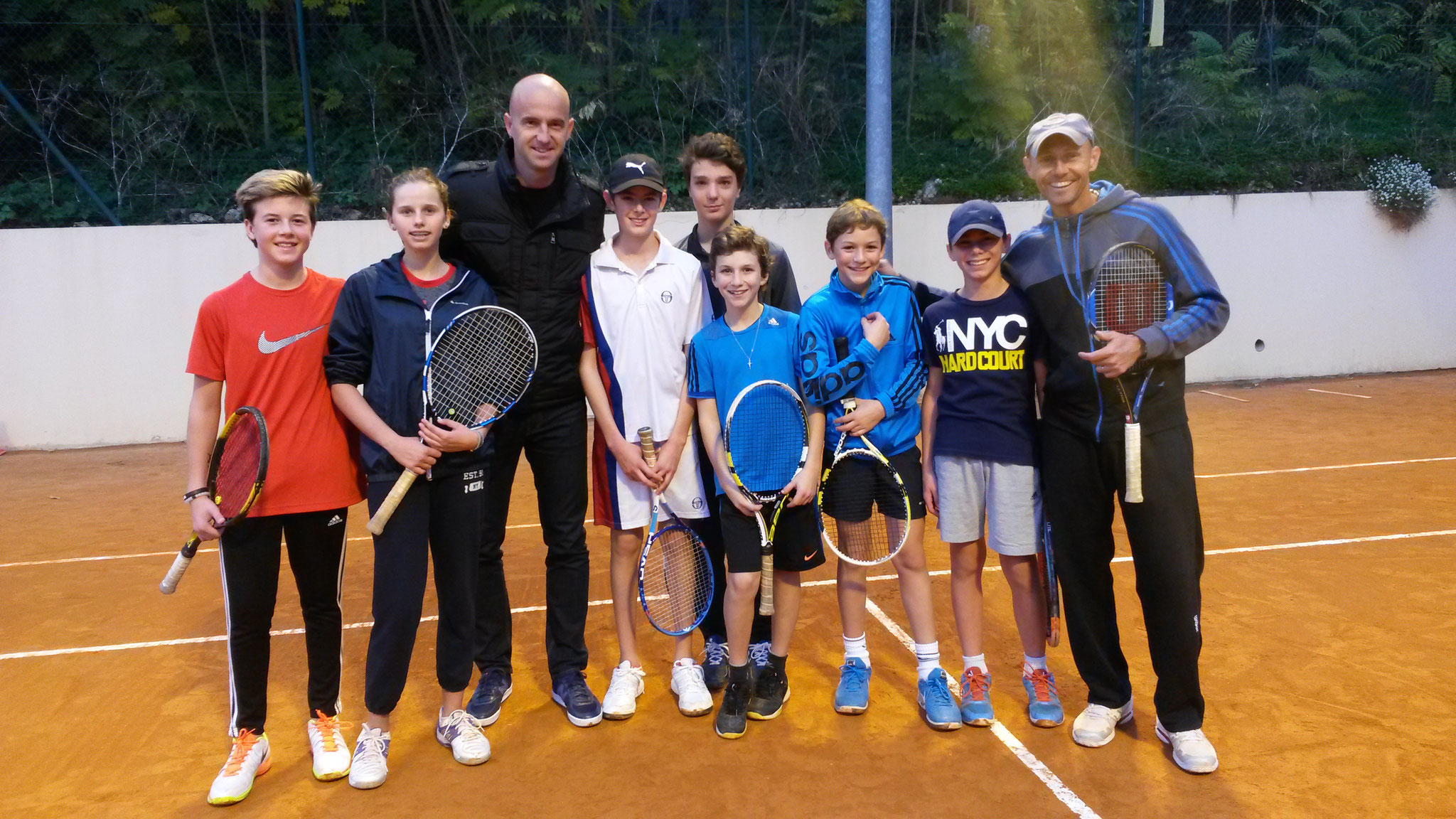 Visite d'Ivan Ljubicic au TC Monaco en Novembre 2016.