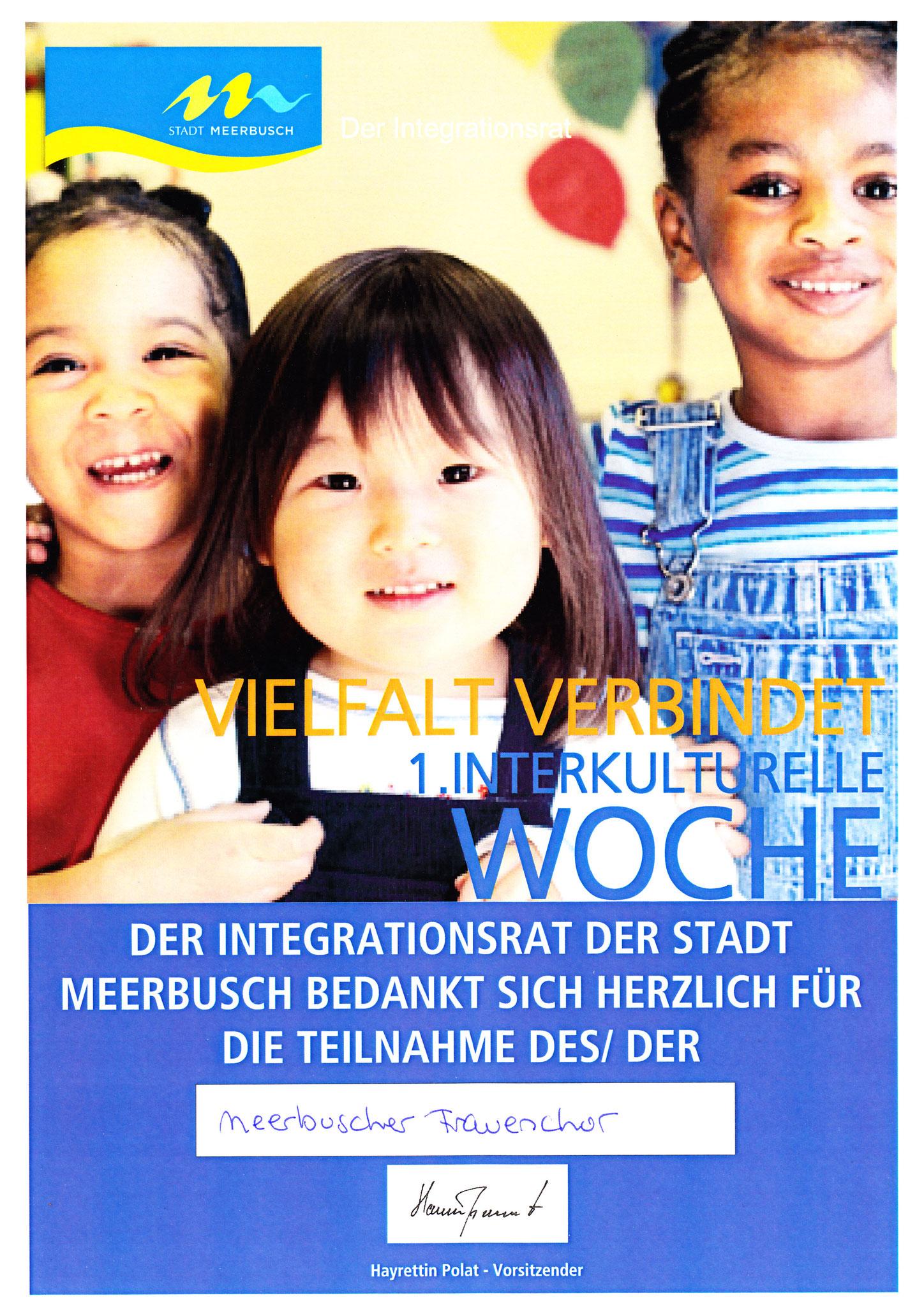 Auftritt im Rahmen der Interkulturellen Woche in Meerbusch am 06.05.2012