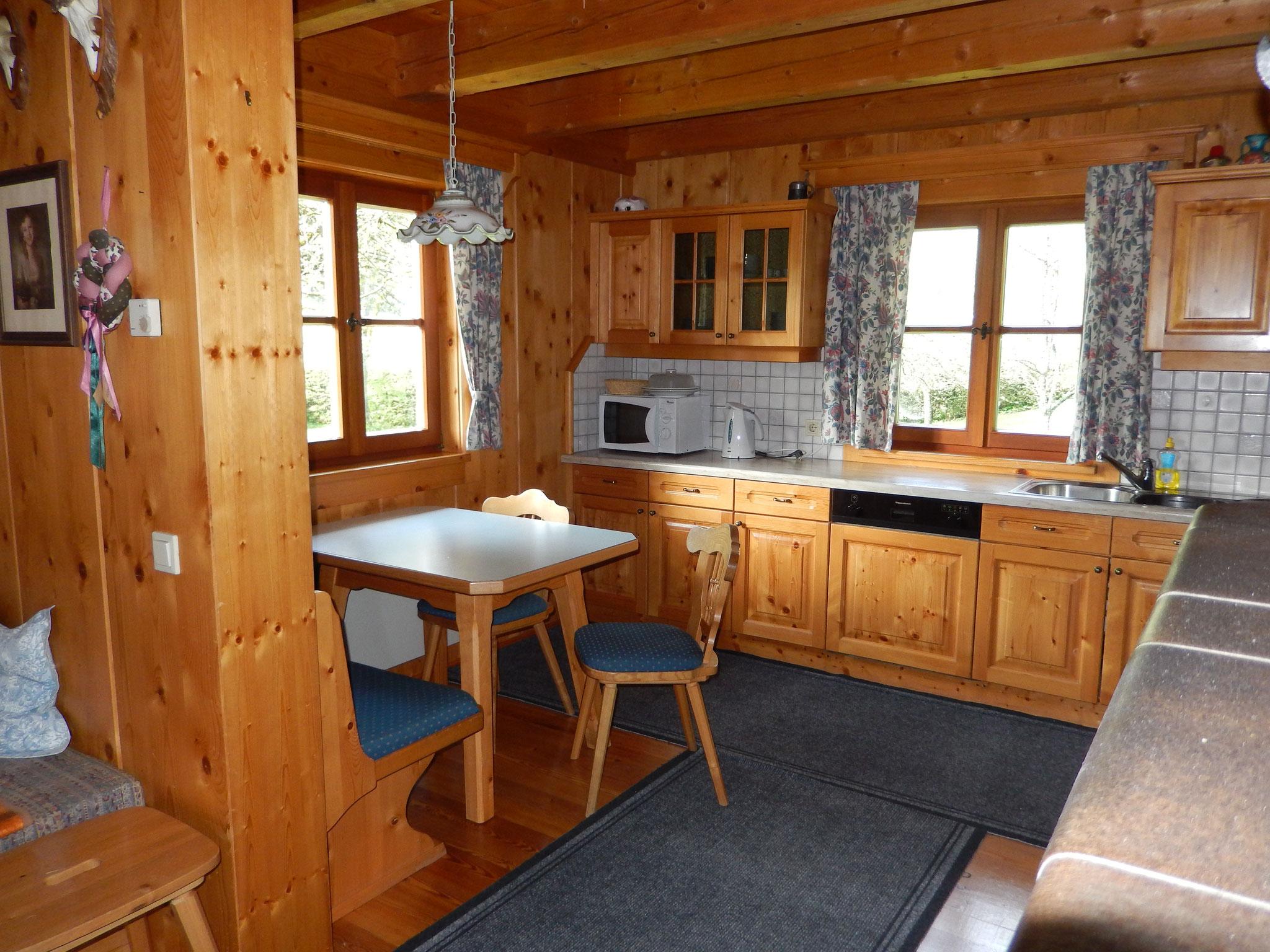 Küche Bio-Blockhaus Koglerhütte