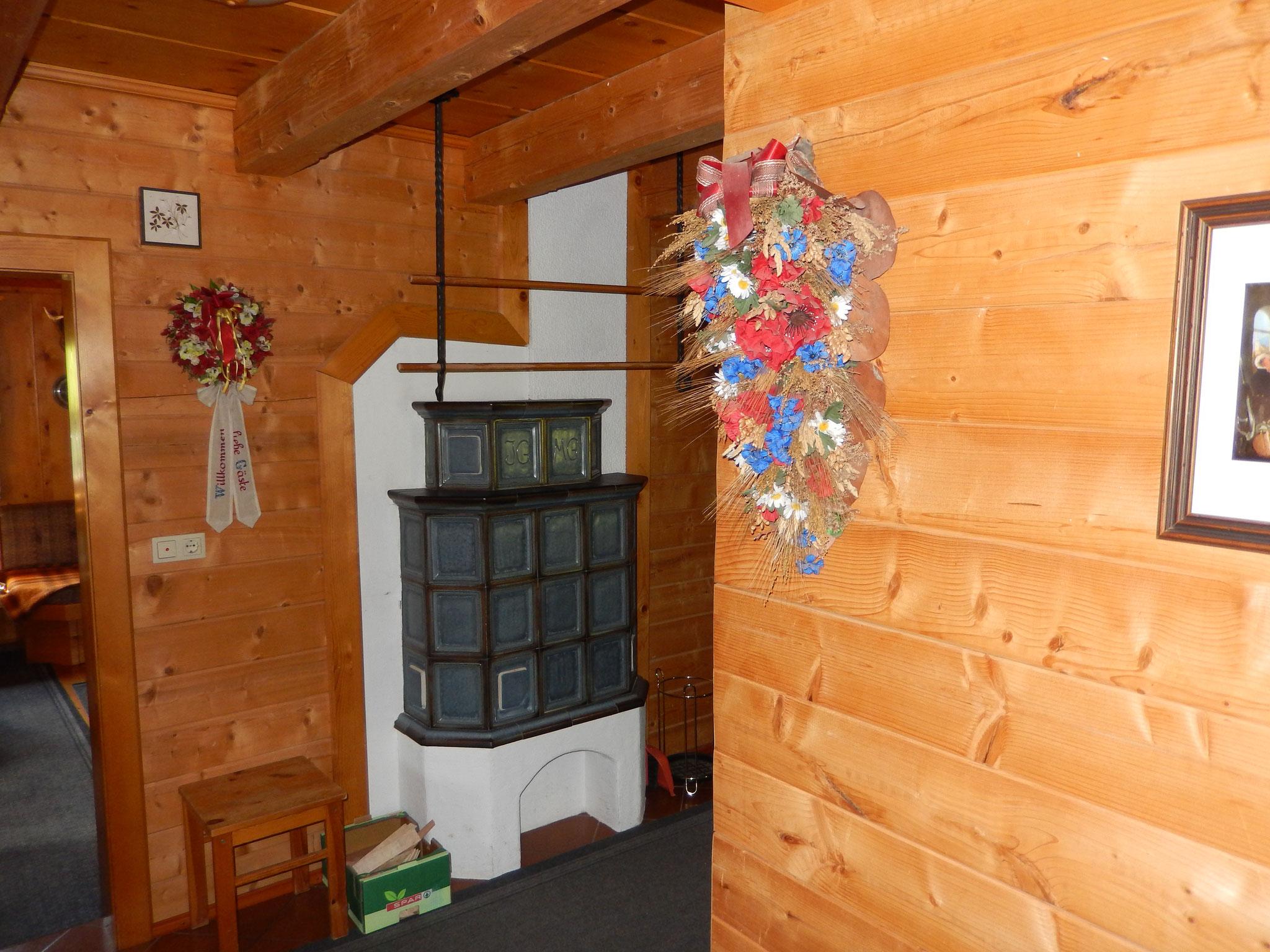 Vorraum Bio-Blockhaus Koglerhütte