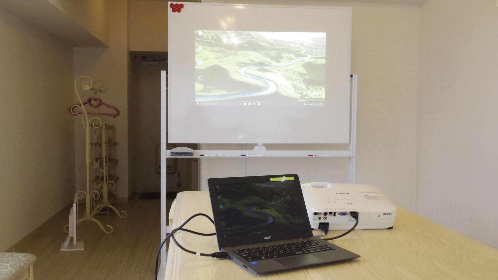 Wifi&プロジェクター&ホワイトボード&PC無料