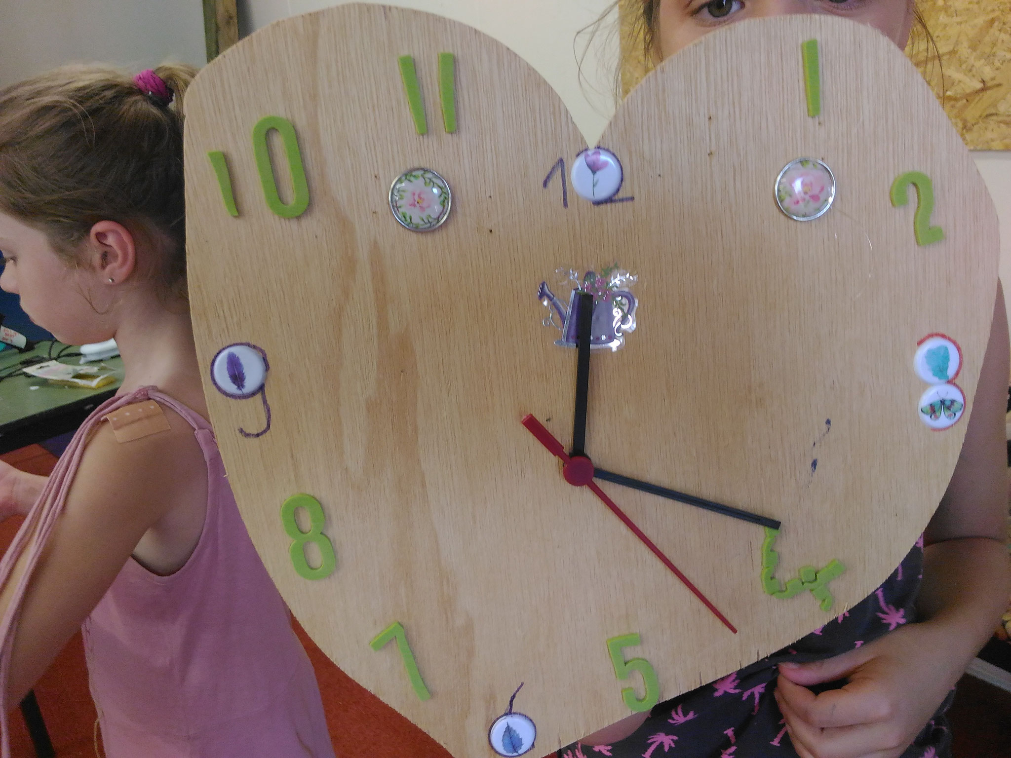 ARTii-kids workshop klok maken Driel