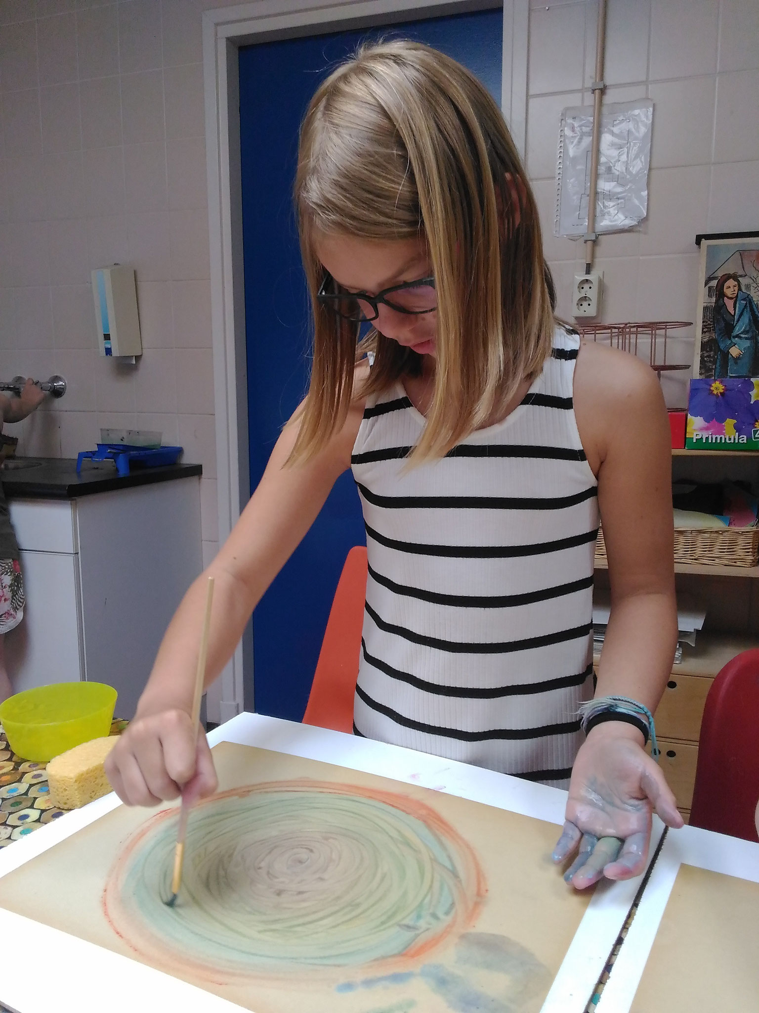 ARTii-kids workshop nat in nat schilderen Driel