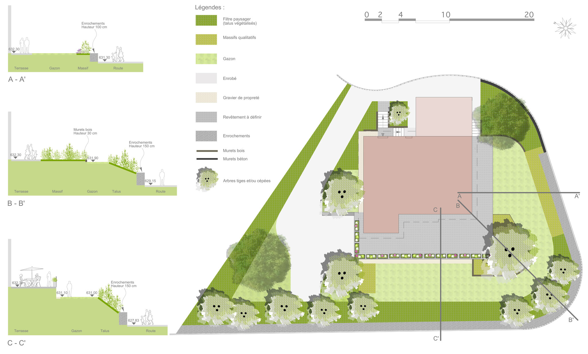 jardin privé à andilly en haute-savoie - sarah fetz architecte
