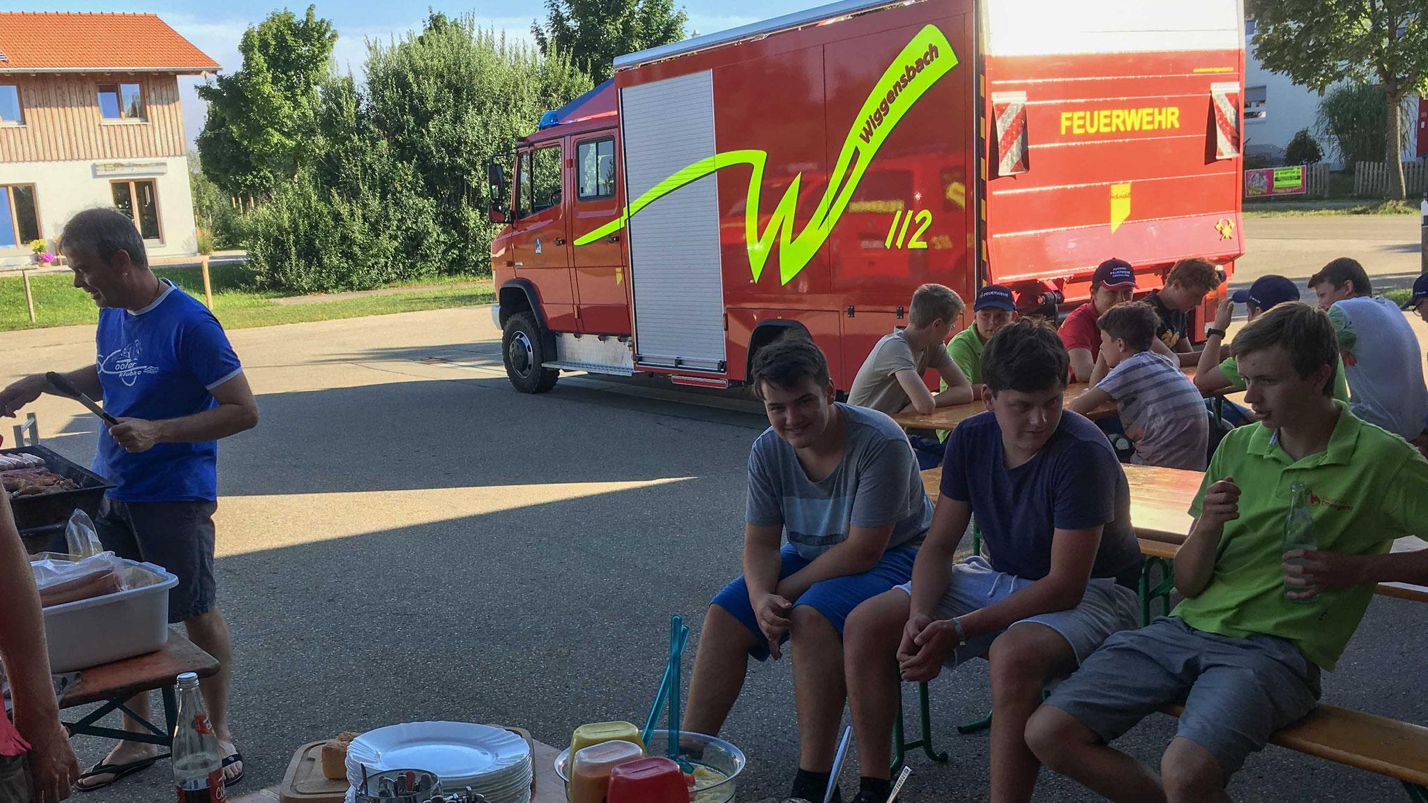 24.07.2019 Jugendfeuerwehr Ermengerst - Grillen bei der FFW