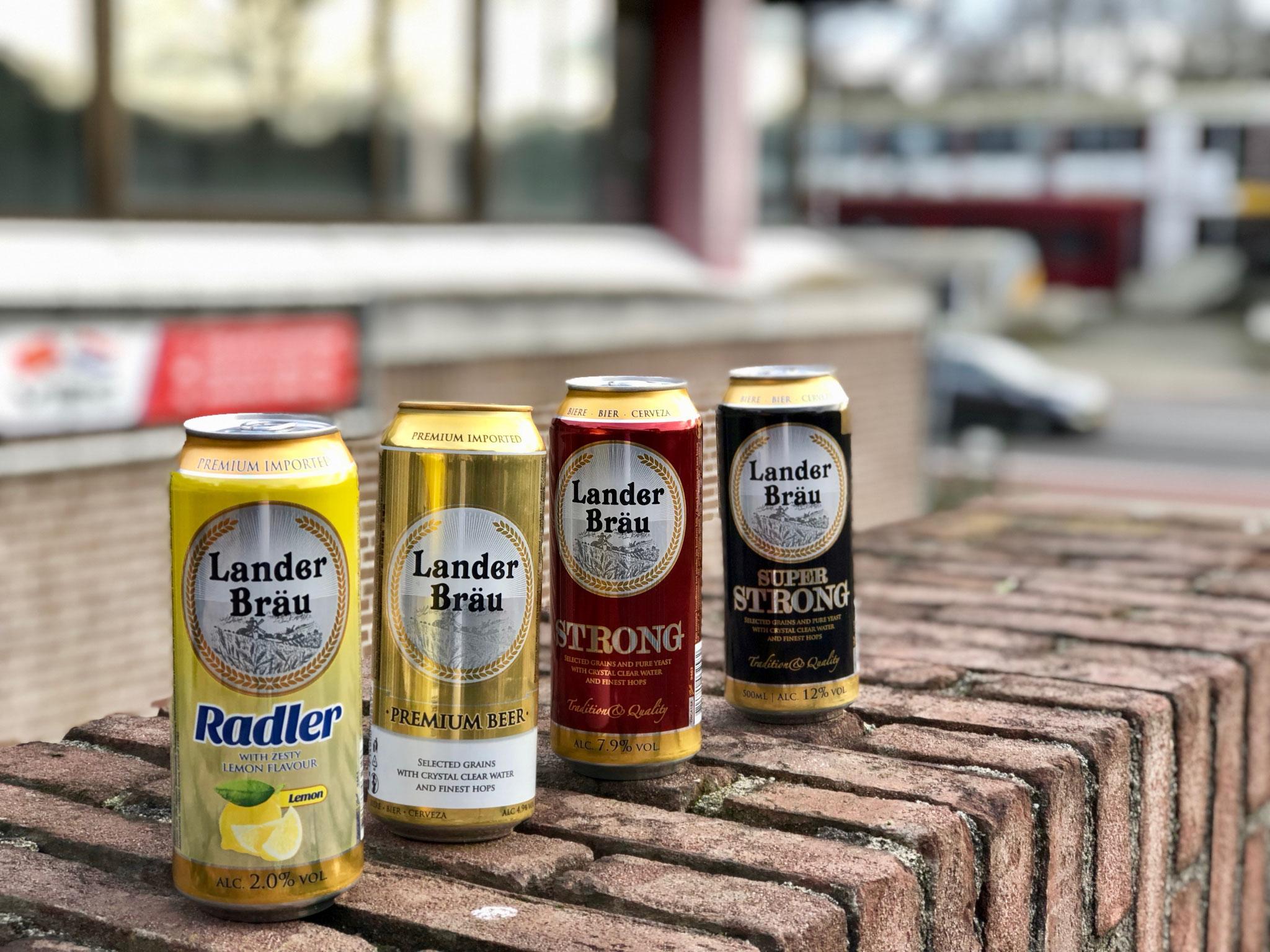 Lander Bräu Beer 2%; 4,9%; 7,9% and 12% Vol. 500ml