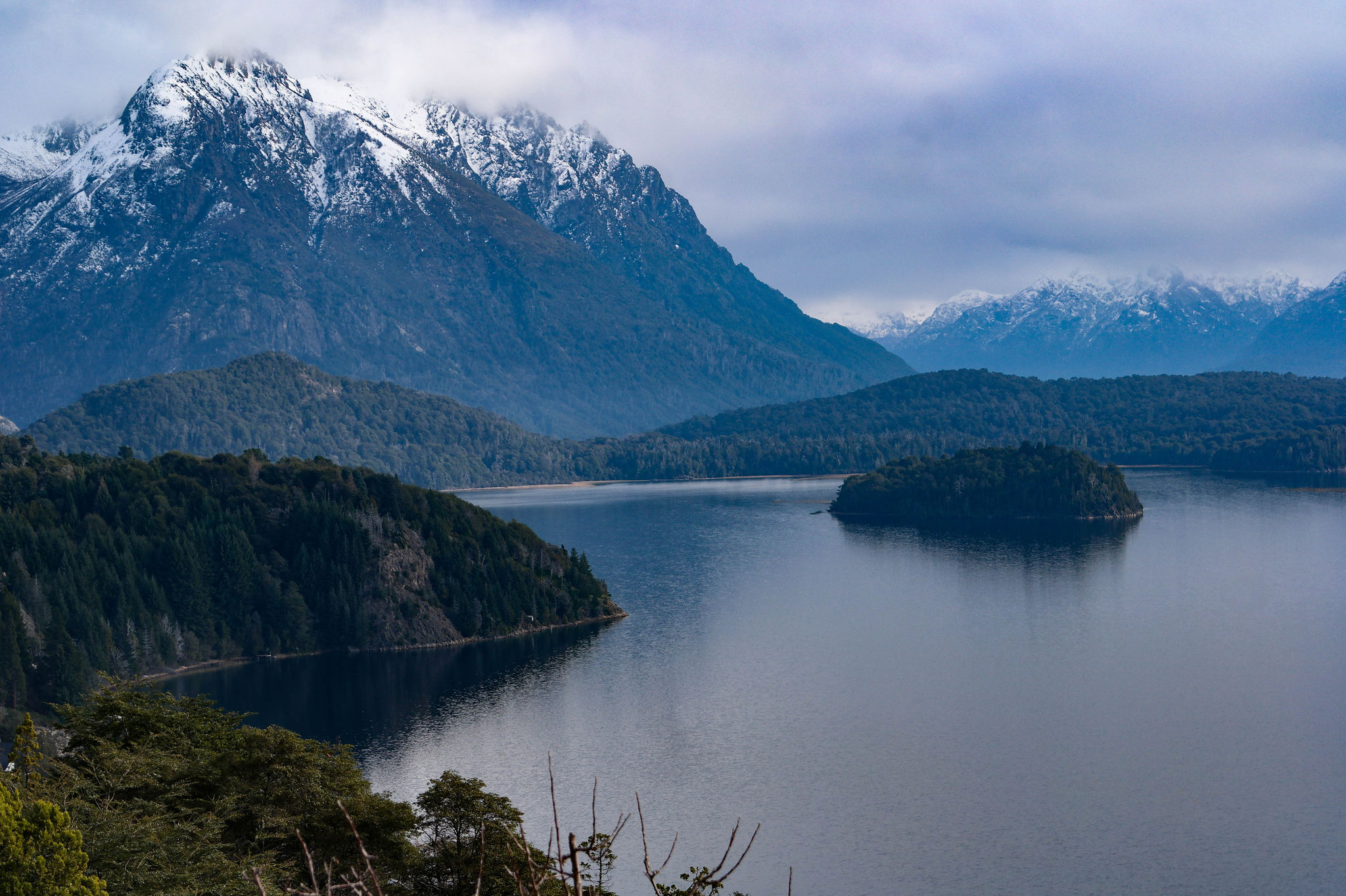 First photography trip after arriving in Bariloche, Argentina. View over the lakes and mountains.