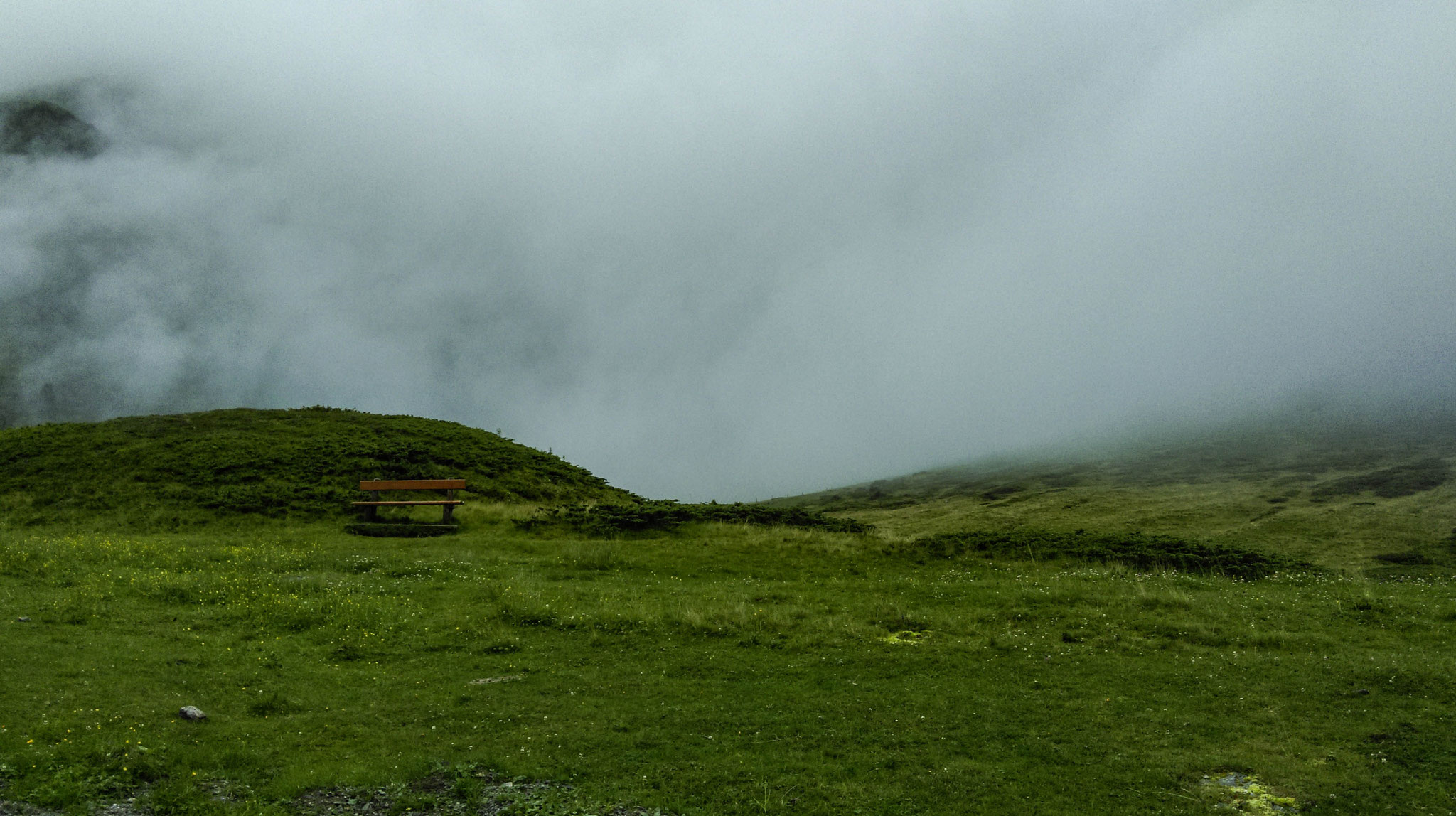 """""""Lonely"""": afternoon as the fog sank into the valley while hiking."""