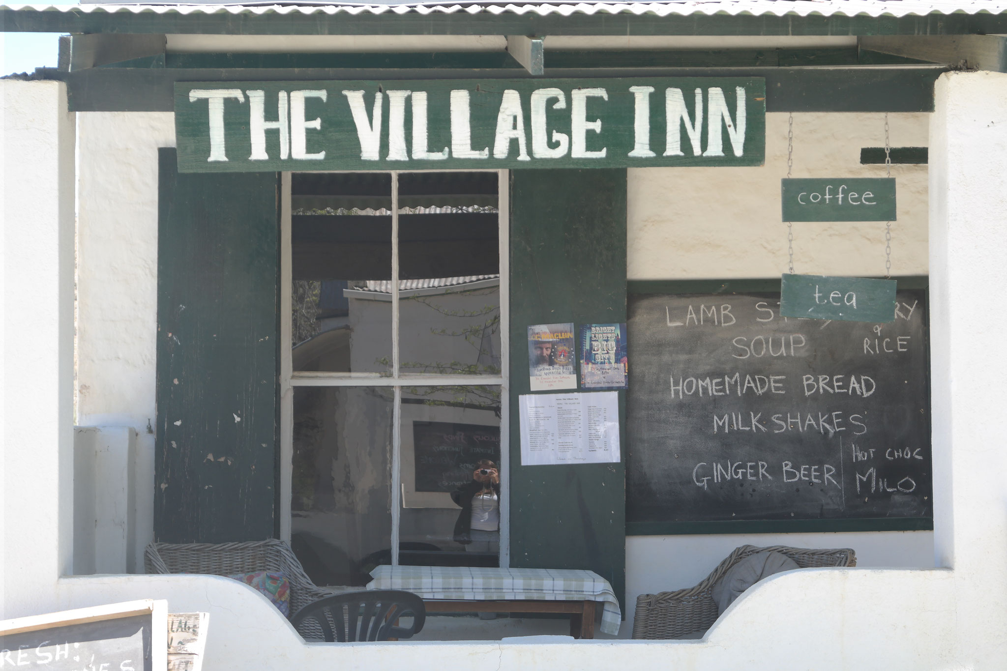 Front view of the Village Inn, Nieu-Bethesda, South Africa.