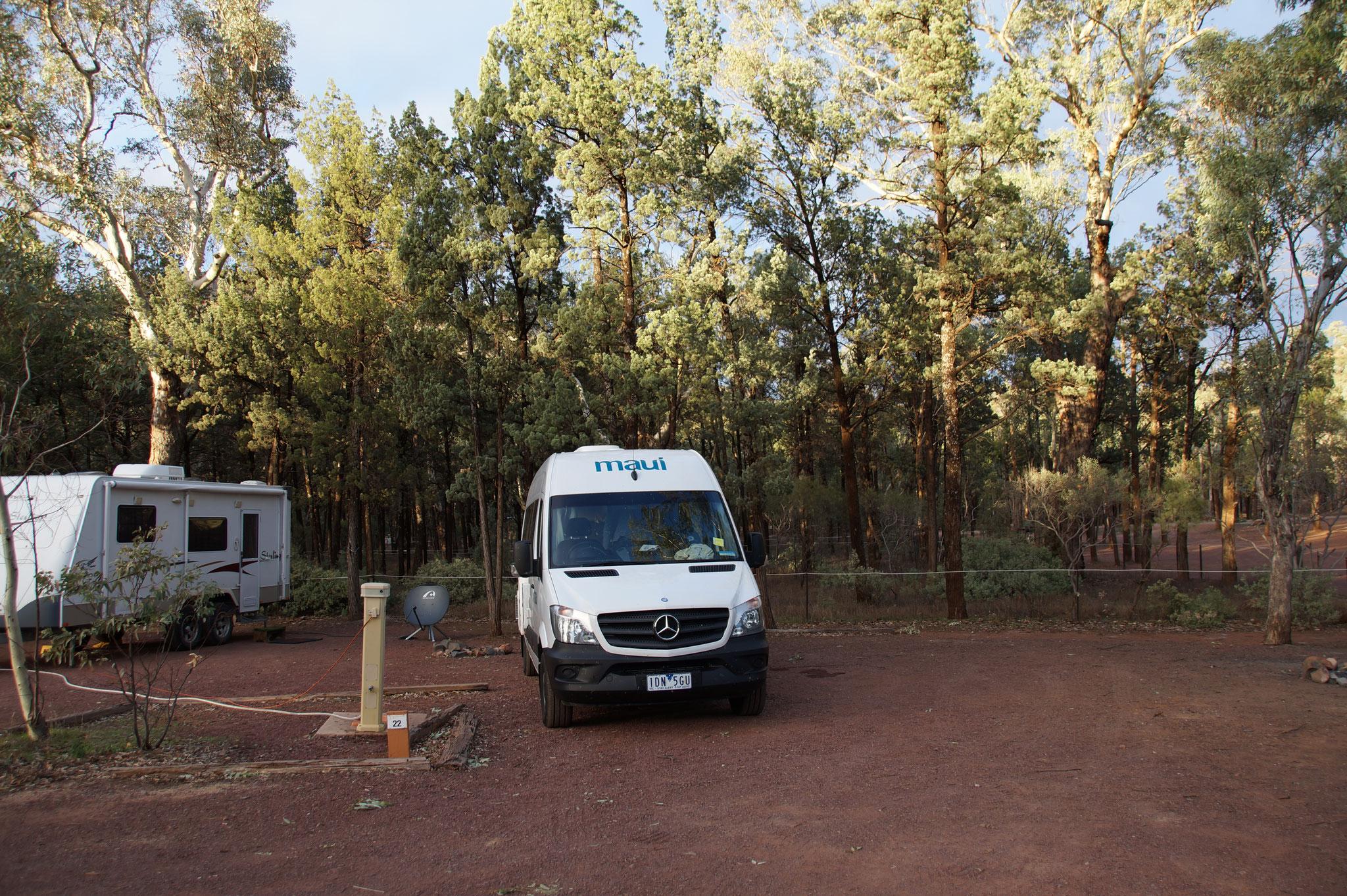 Unser Stellplatz auf dem Wilpena Pound Campground