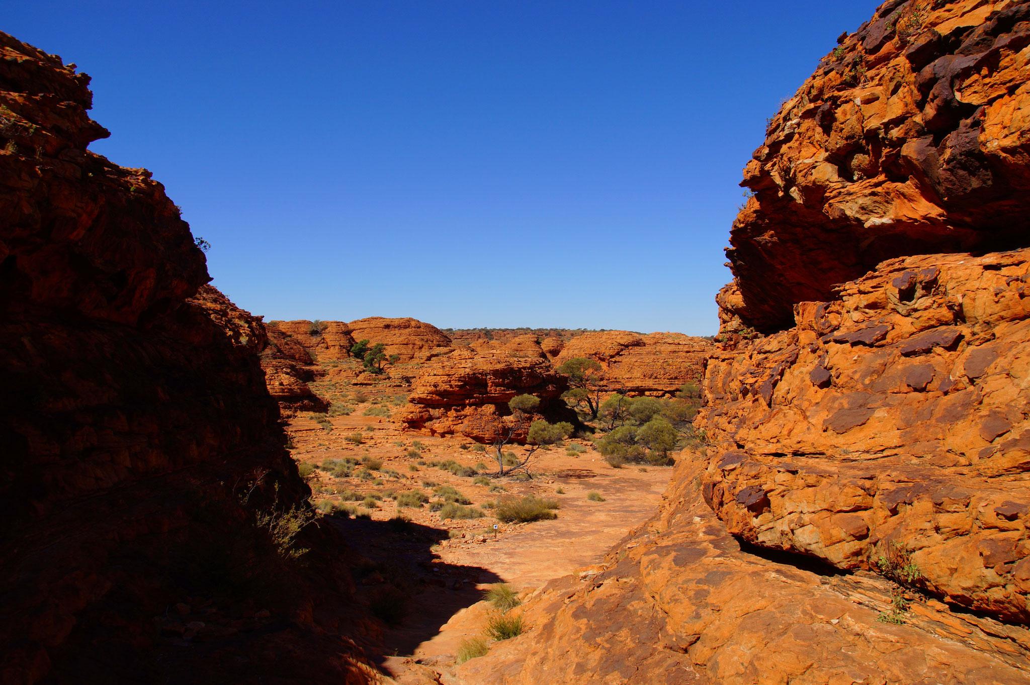 Auf dem Felsplateau gibt es kaum Schutz vor der Sonne. Am Nachmittag sehr heiß. Nehmt unbedingt Wasser mit.