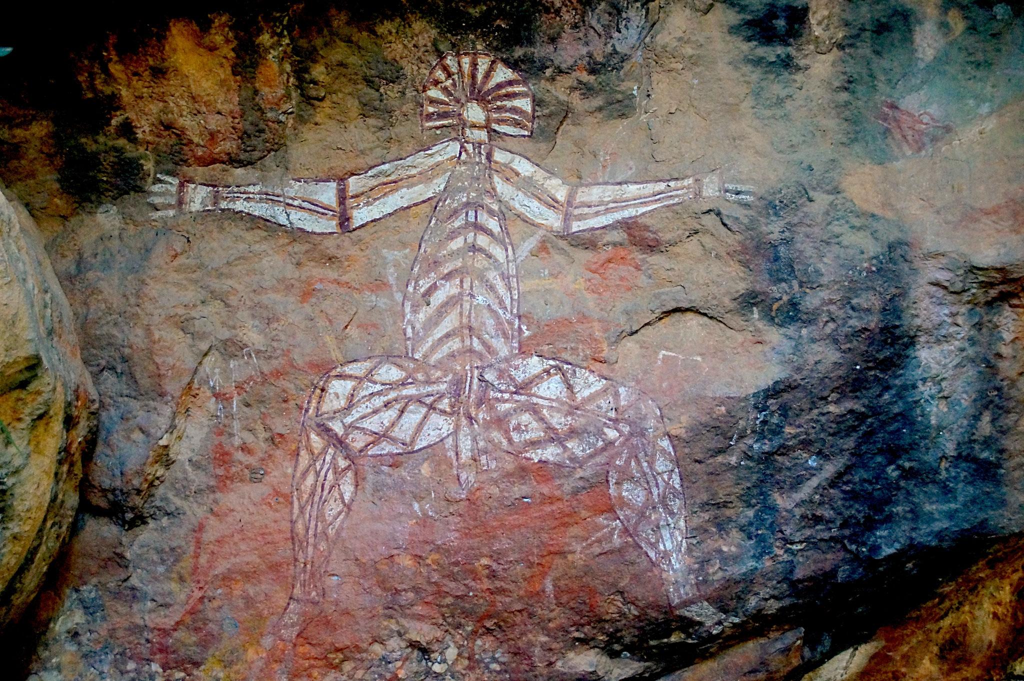Das Felsgemälde zeigt Nabulwinjbulwinj - einen Hannibal Lecter der Traumzeit.