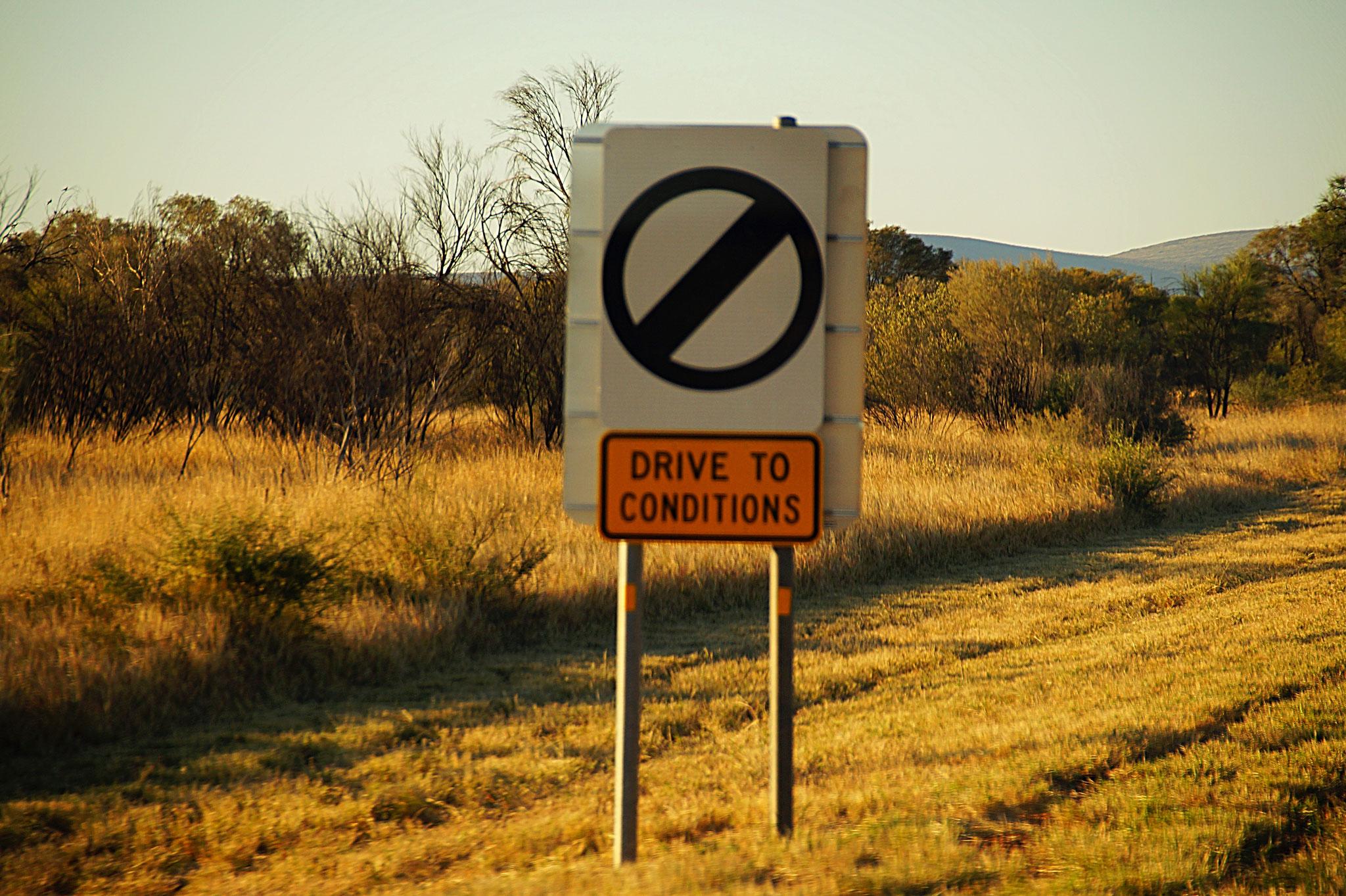 DRIVE TO CONDITIONS - Geschwindigkeit nach eigenem Ermessen