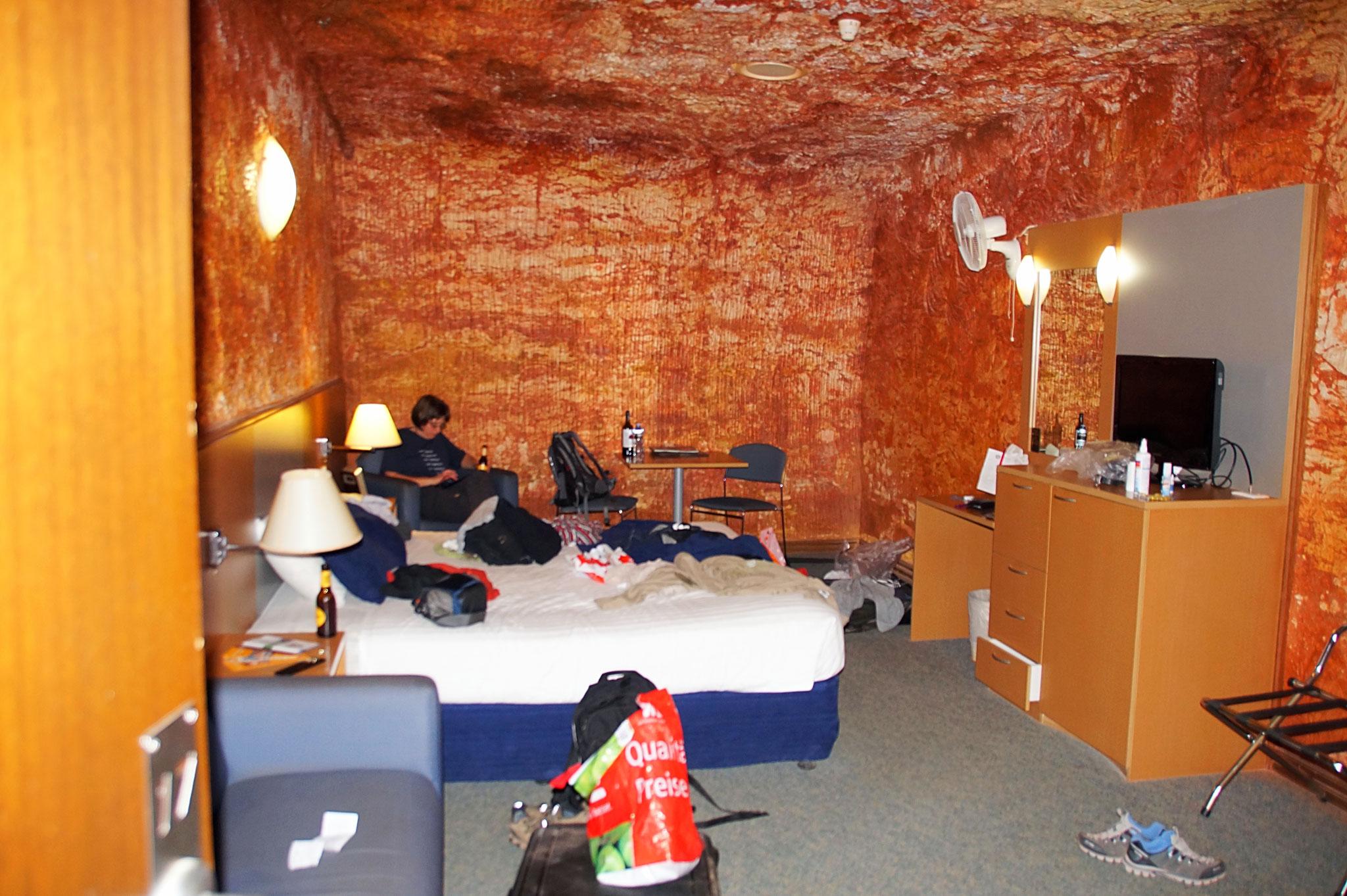 Unsere Wohnhöhle im Desert Cave Hotel.