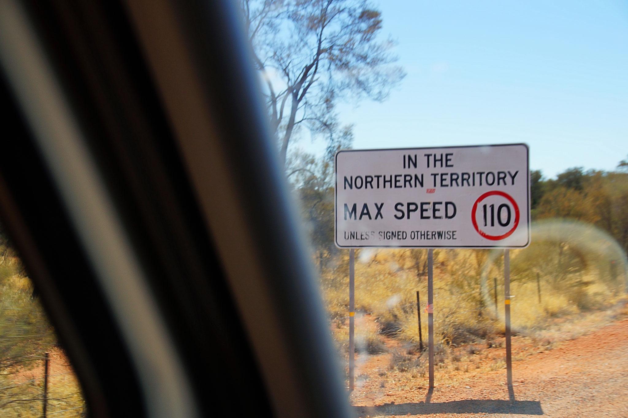 Höchstgeschwindigkeit 110 km/h