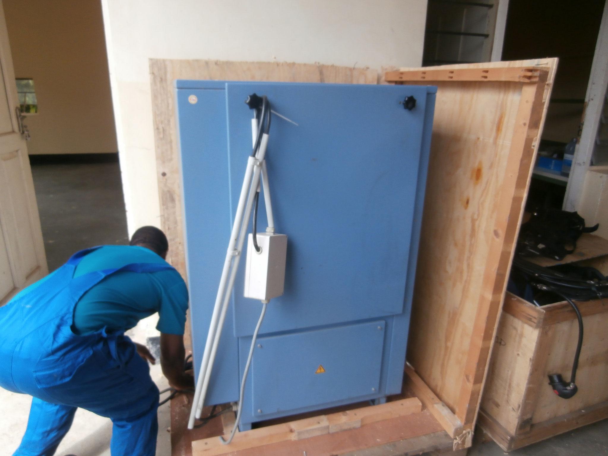 Der neue Kompressor in Arusha