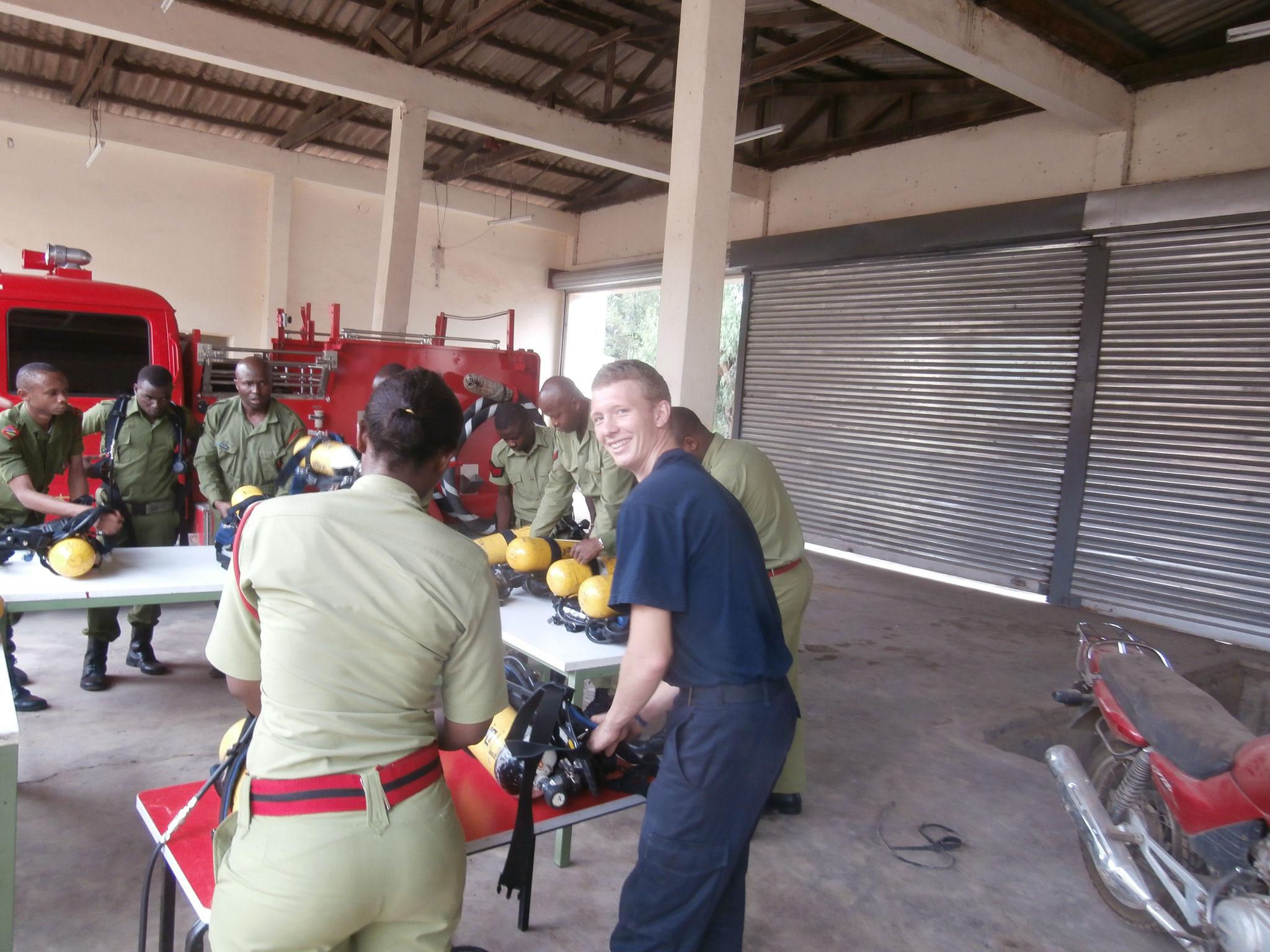 Atemschutztraining in Arusha
