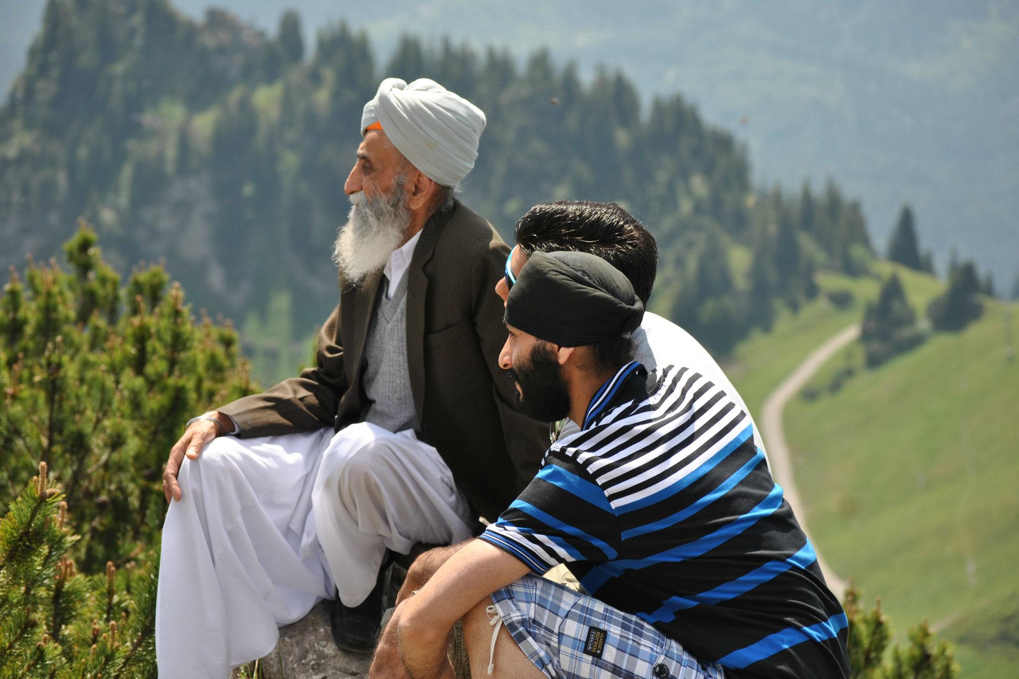 Afghanische Sikhs auf Tiroler Bergen