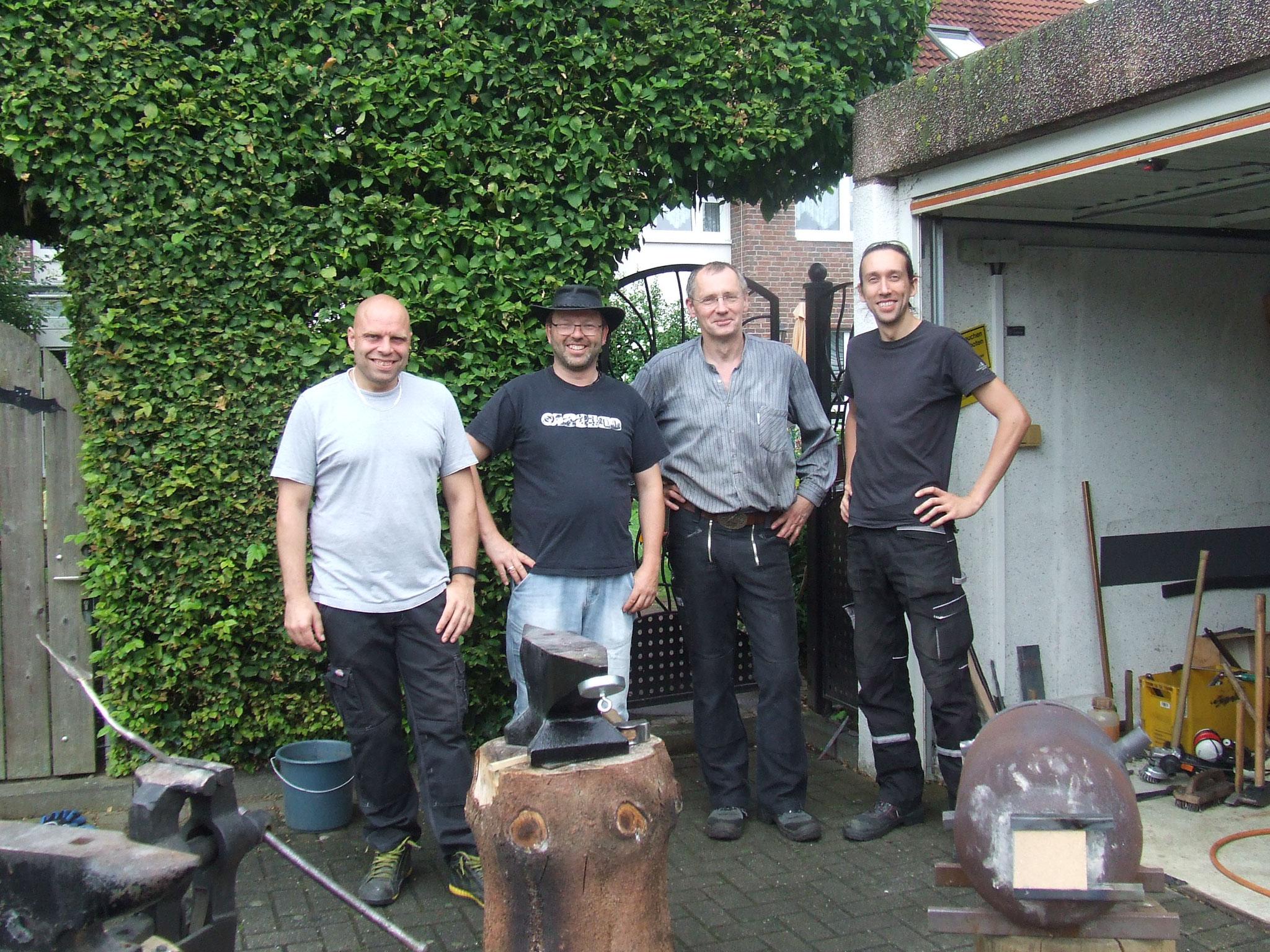 Die Truppe von li. nach re.: Andreas, Roland, Christian, Maik