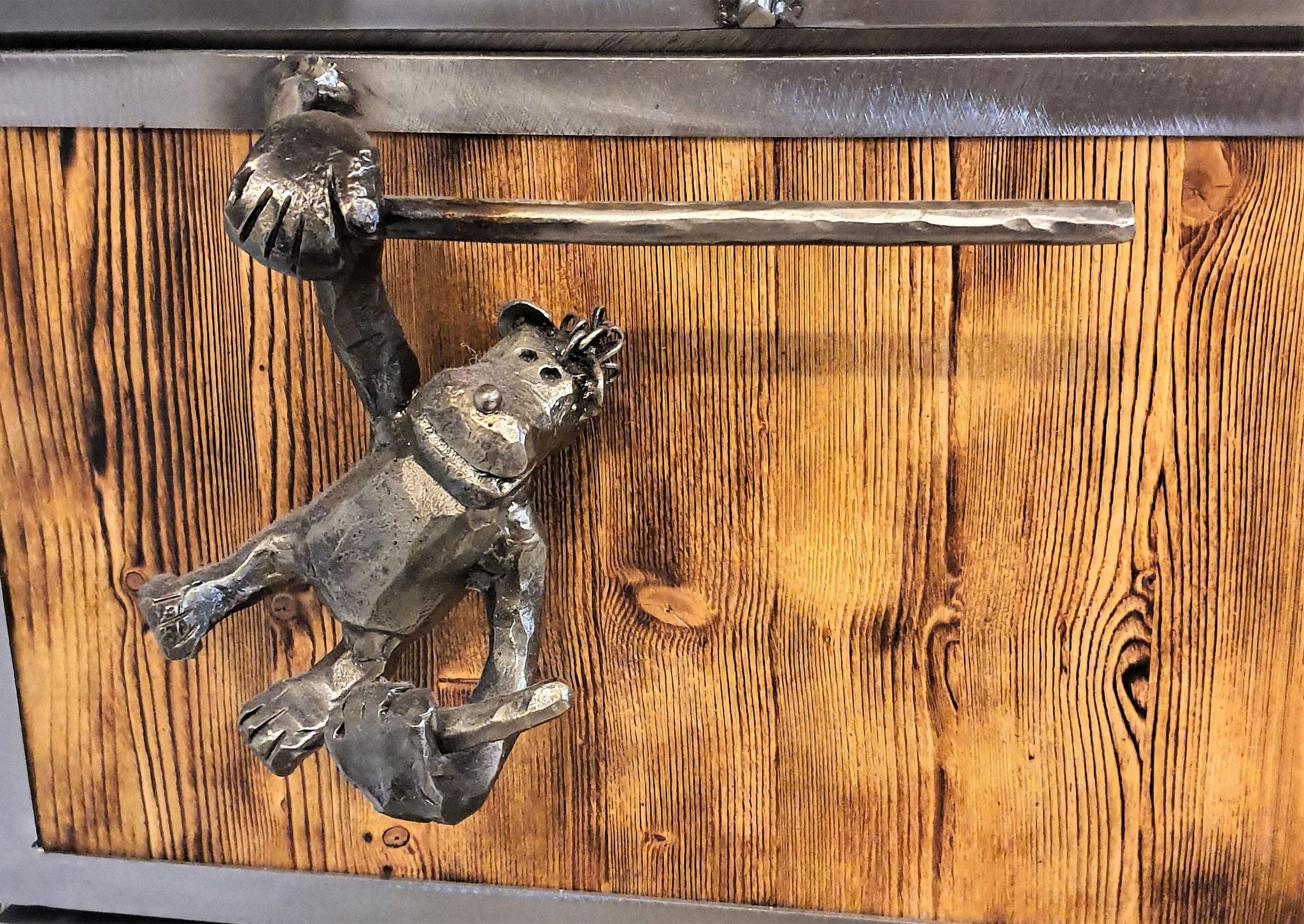Türgriff / handgeschmiedeter Affe