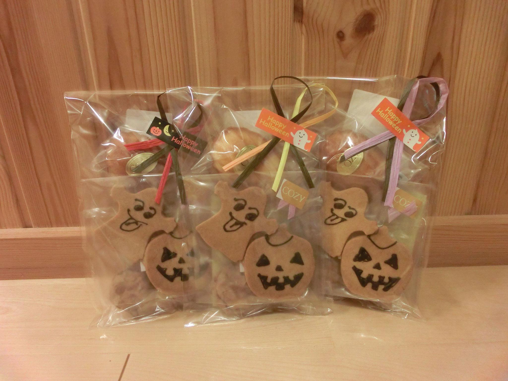 今回のご褒美はハロウィンのお菓子(^^) 岡山市にあるお菓子屋さん『COZY』で作って頂きました✩