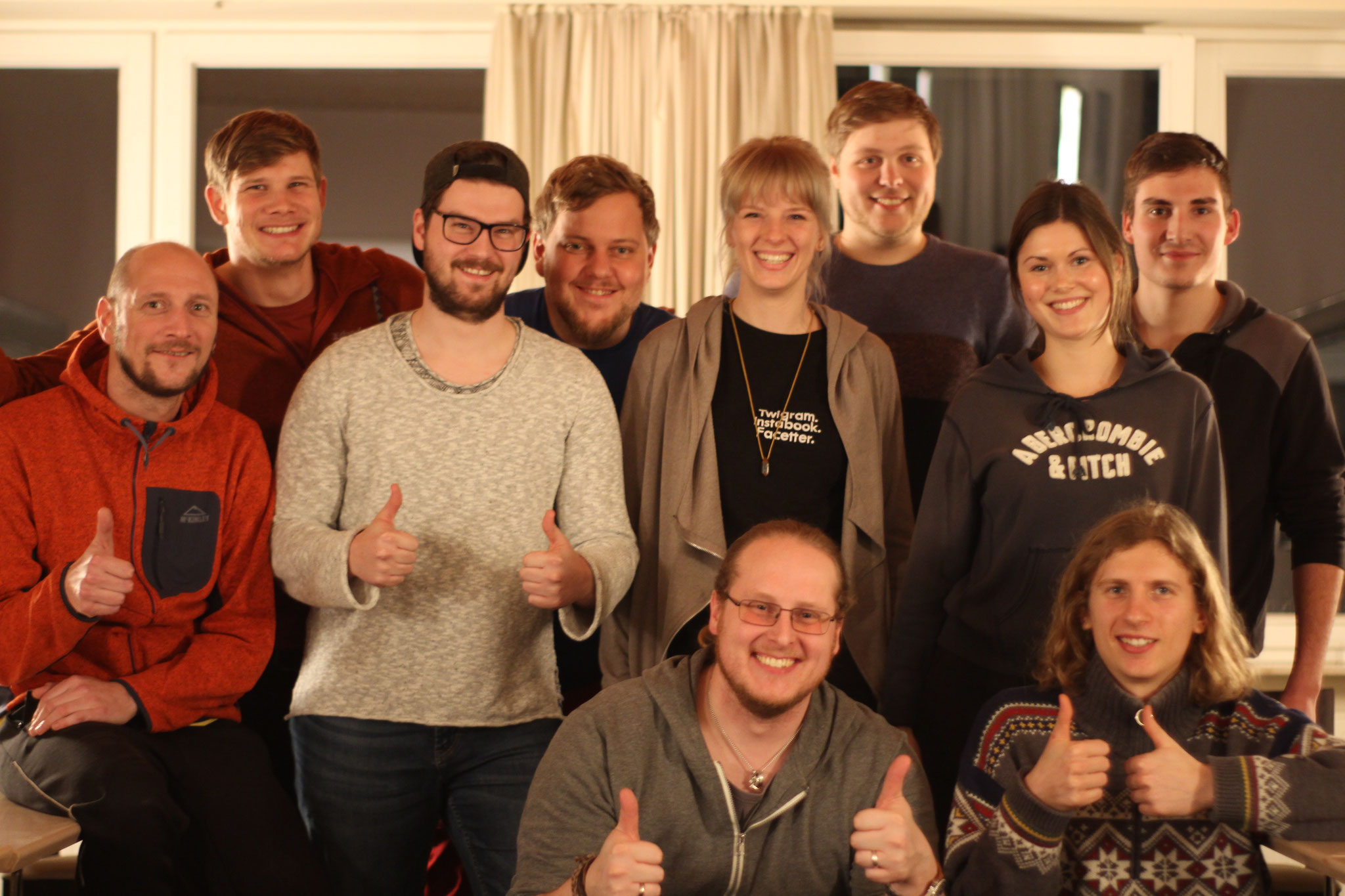 Teilnehmende des Outdoor-Kletter-Betreuer*in Kurses Februar 2019