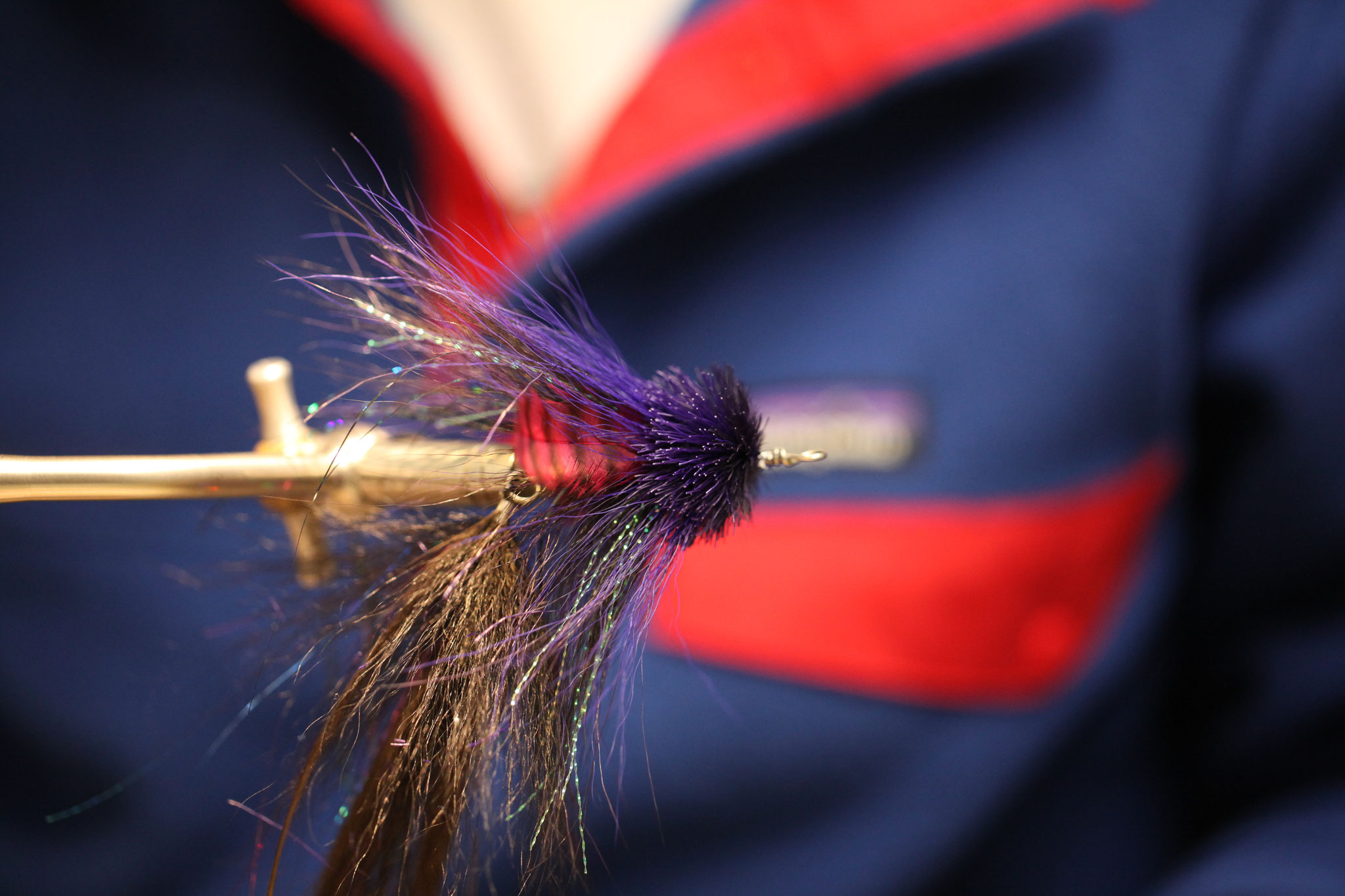 The last and hardest step: the buford-style head. This one is tied rather sparse to get the fly down faster