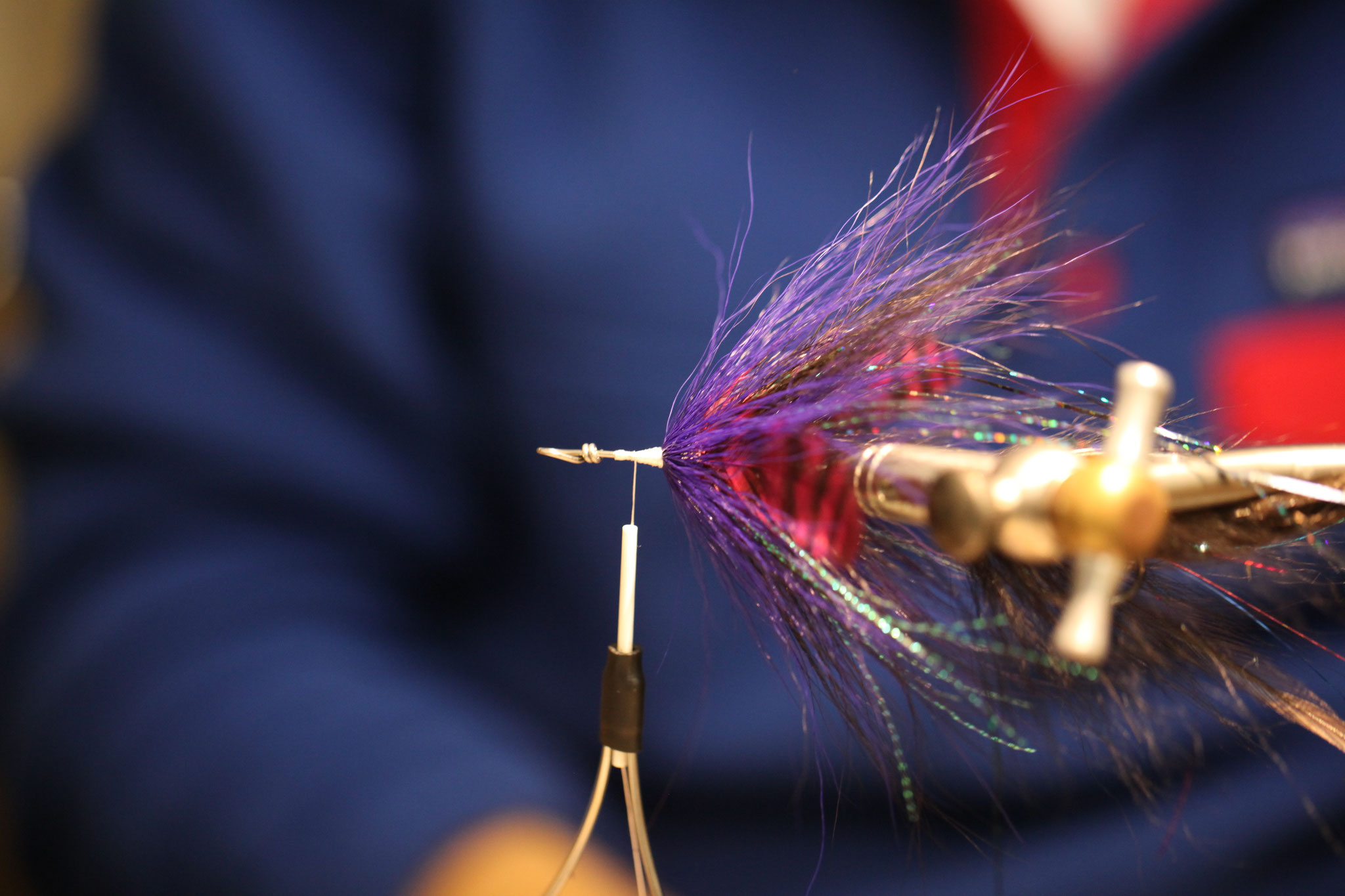 Another two bucktail collars, with some flashabou, kristal flash and one shorter feather on each side mixed in