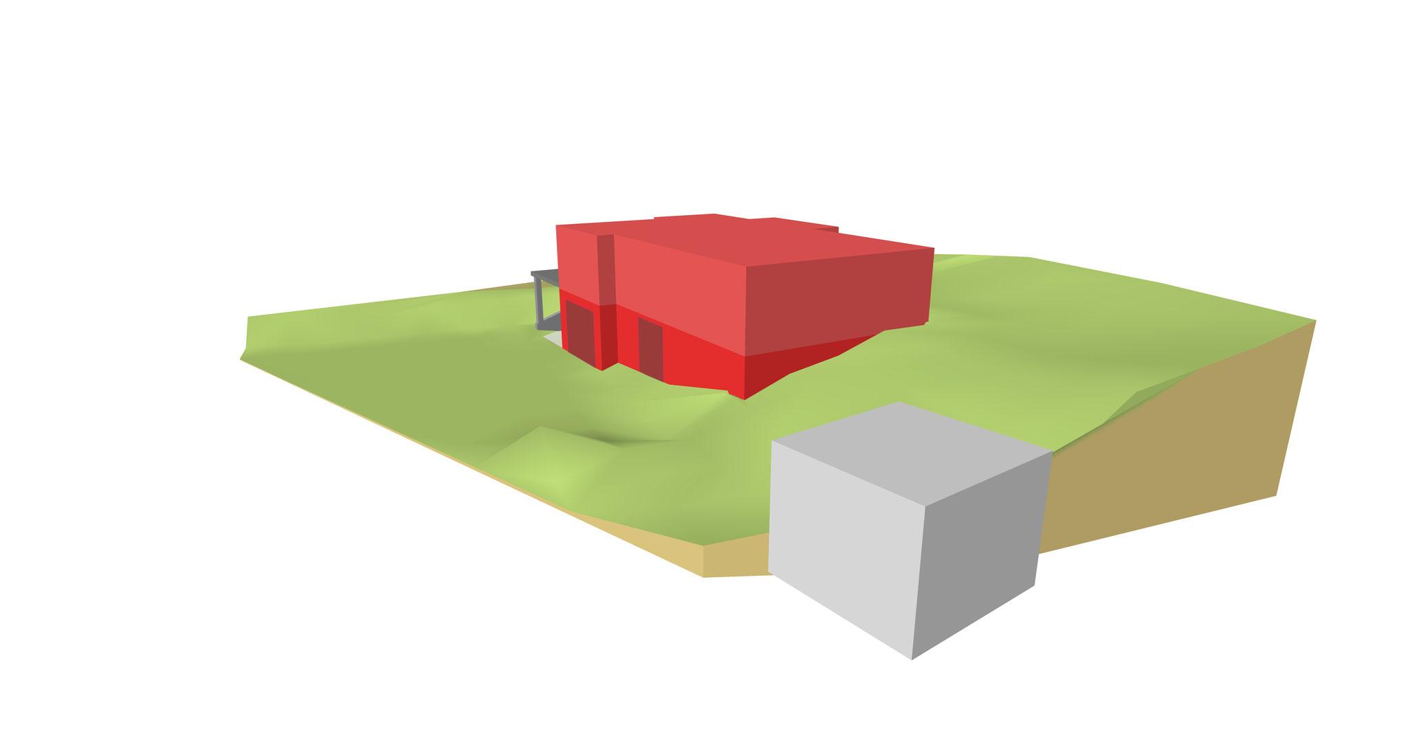 Visualisierung zur Positionierung eines Gebäudes - Ansicht 2