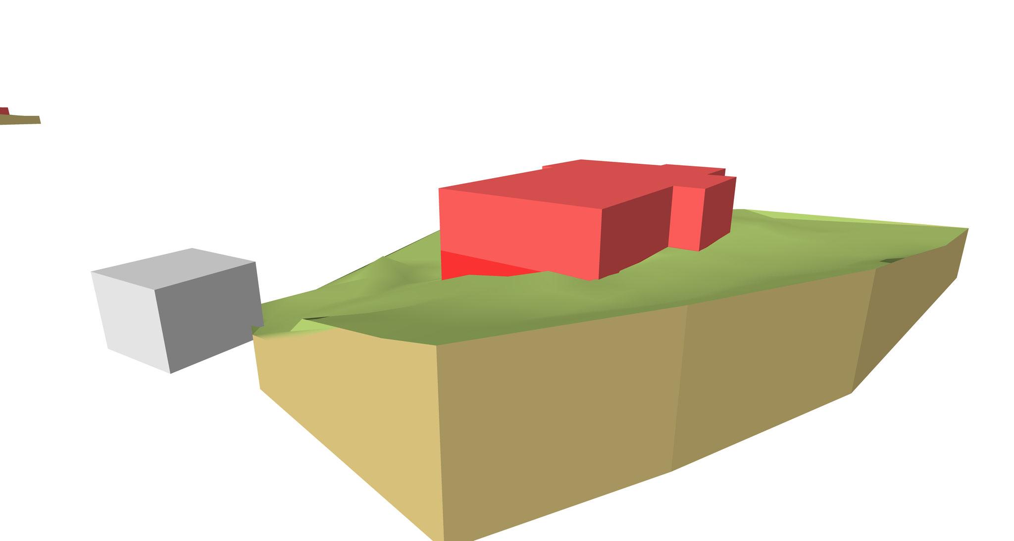 Visualisierung zur Positionierung eines Gebäudes - Ansicht 3