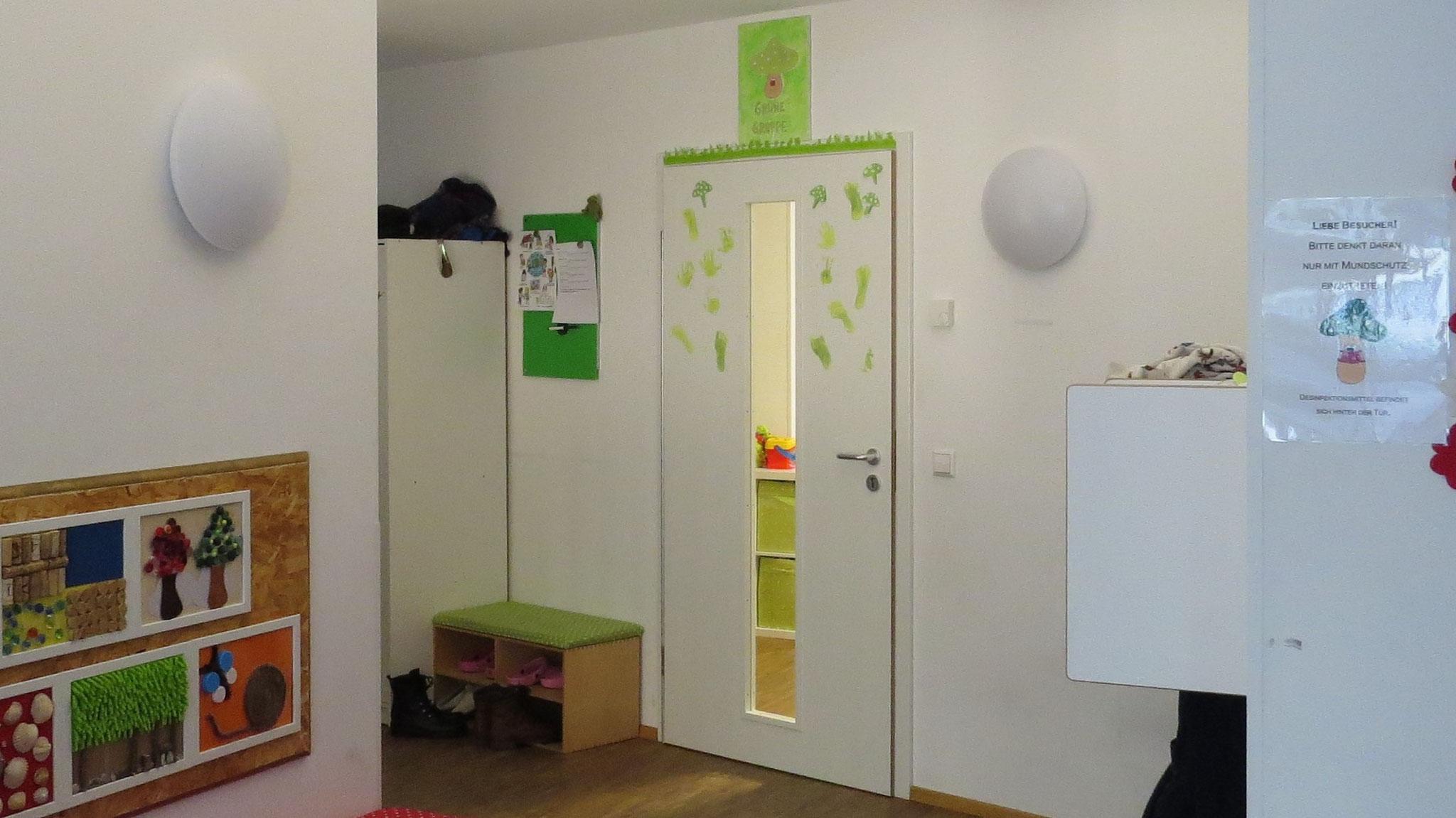 Eingang zu den grünen Glückspilzen