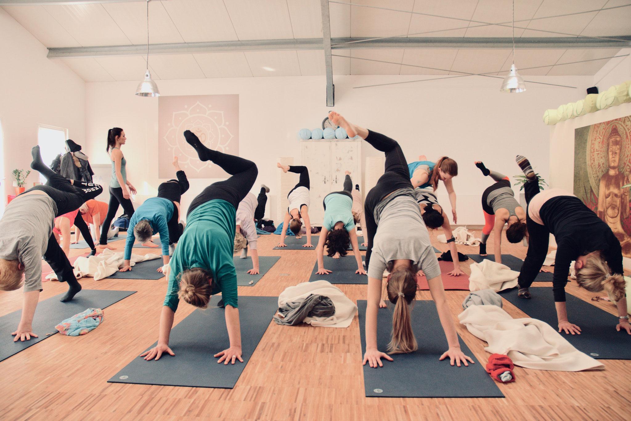 Viel Spaß beim Yoga hat man bei Yamida - Yogaschule Lüdinghausen