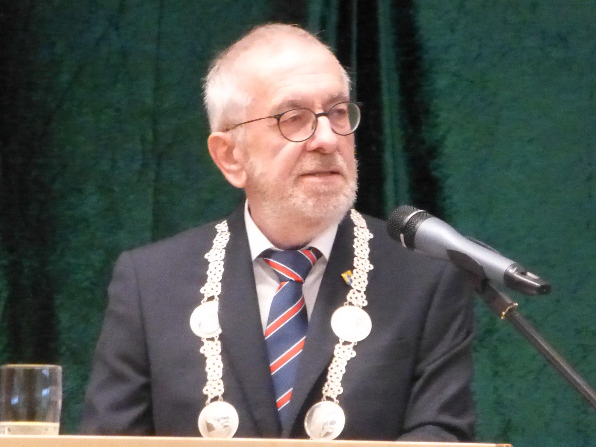 ... hält Bürgermeister Wolf-Egbert Rosenzweig (SPD) seine Neujahrsrede ...