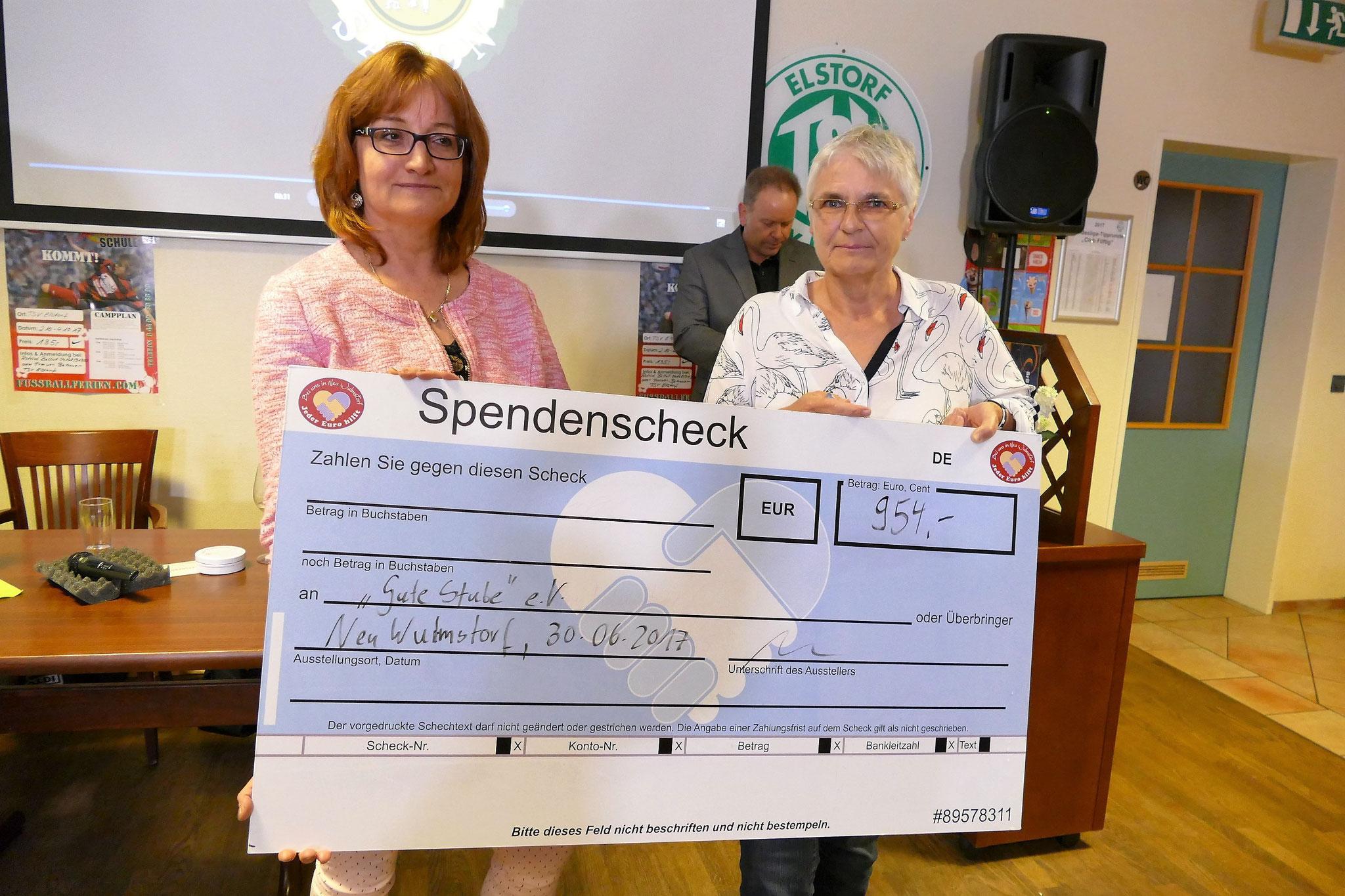 Das Spendenfinale: 954 Euro sind zusammengekommen an diesem Abend für die Senioren in unserer Gemeinde