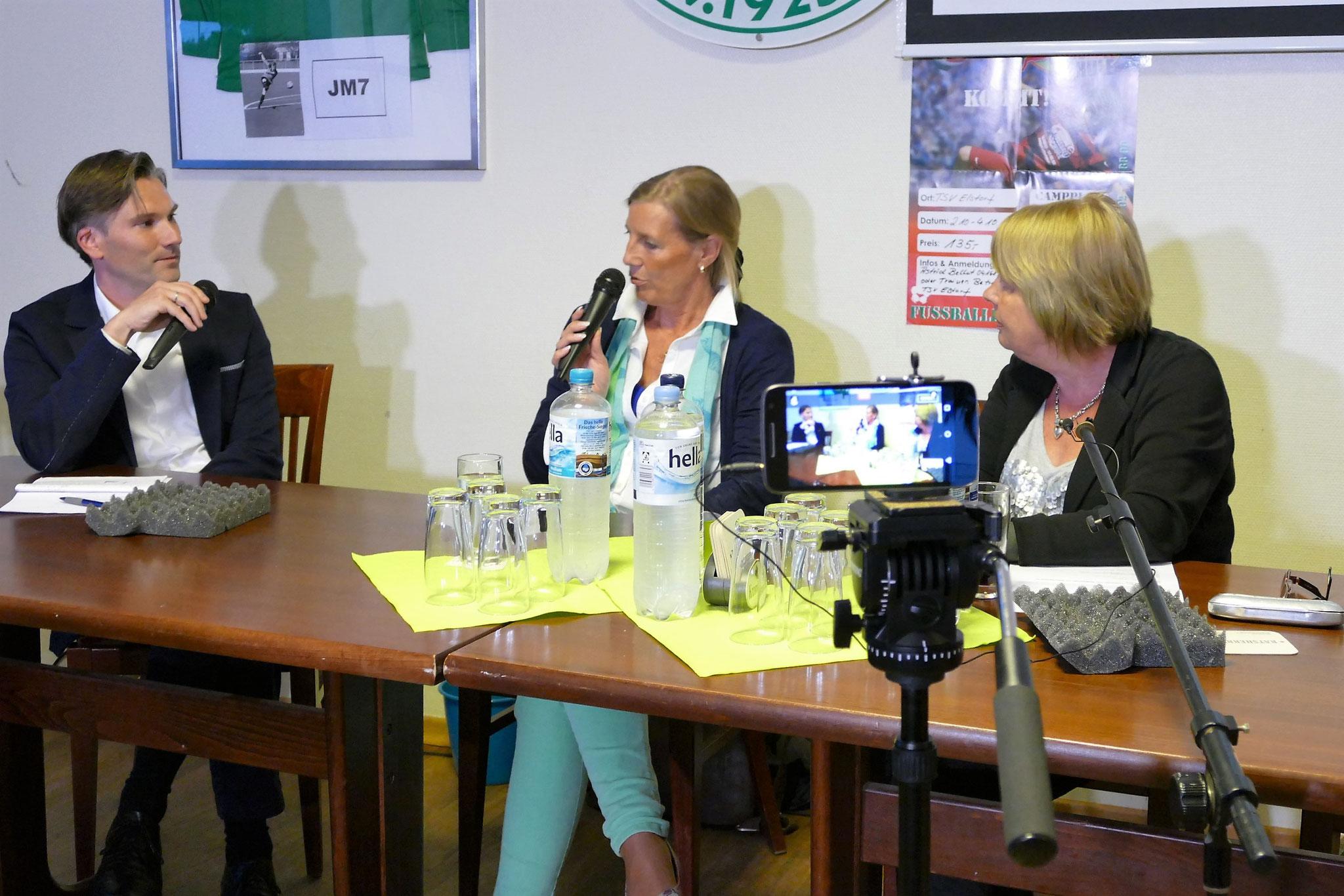 Weiter geht´s im Talk mit Sybille Kahnenbley, Vorsitzende der Landfrauen im LK Harburg