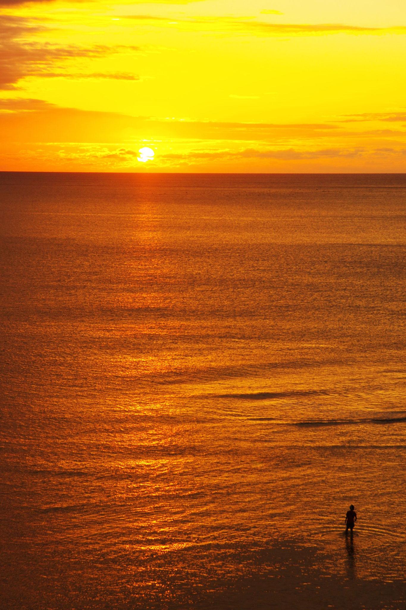 油井・前の洲の夕陽