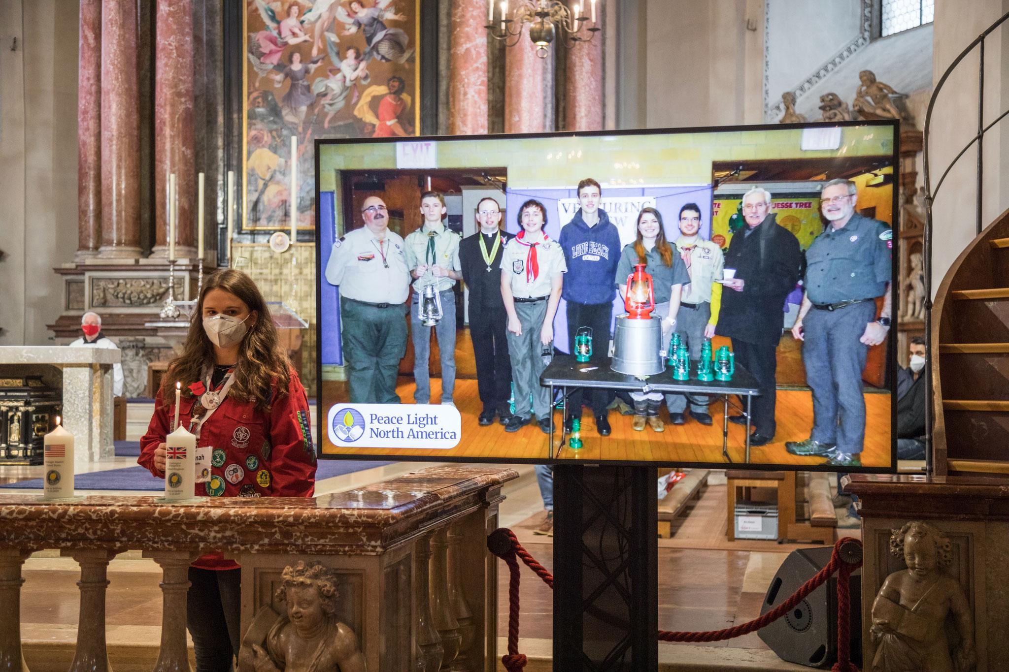 Bilder der Friedenslichtfeier in Wien vom 12.Dezember 2020 (Rudolf Klaban)