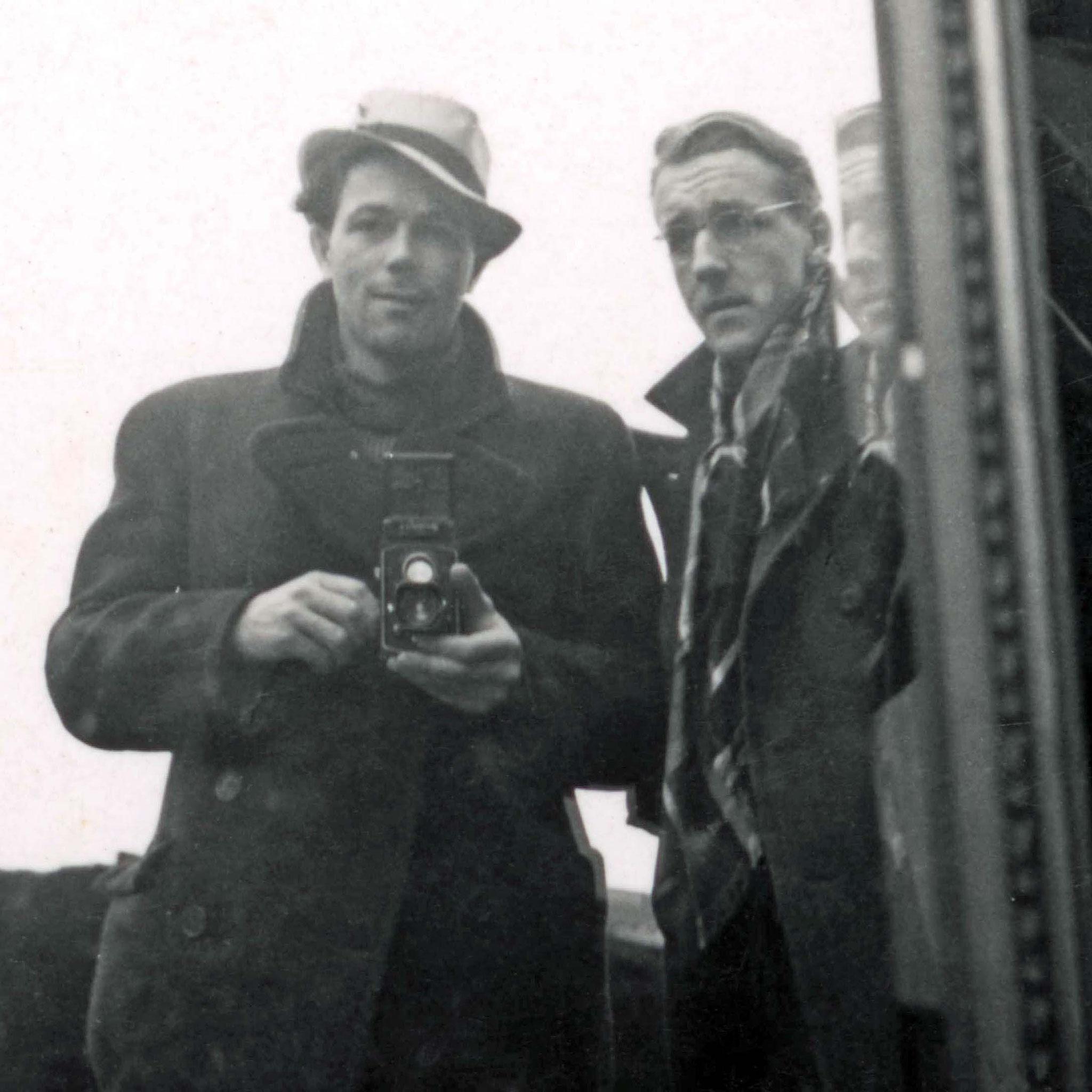 Hans Potthof und Christian Staub in Paris Winter 1937-38