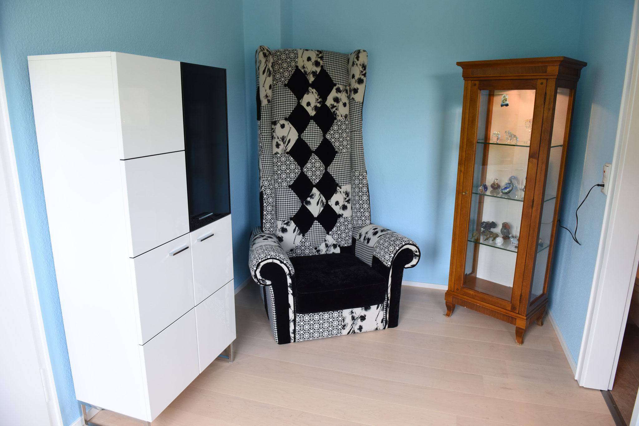 blaues Schlafzimmer