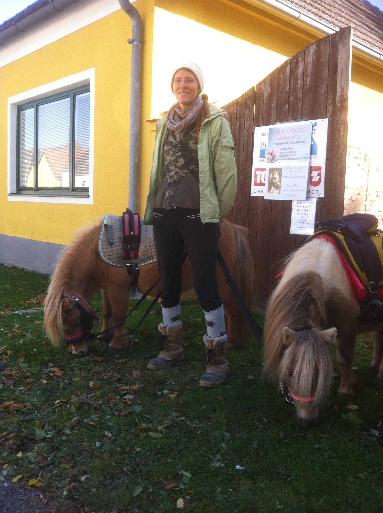 Ponyreiten beim Kellerfest in Eichenbrunn 2016