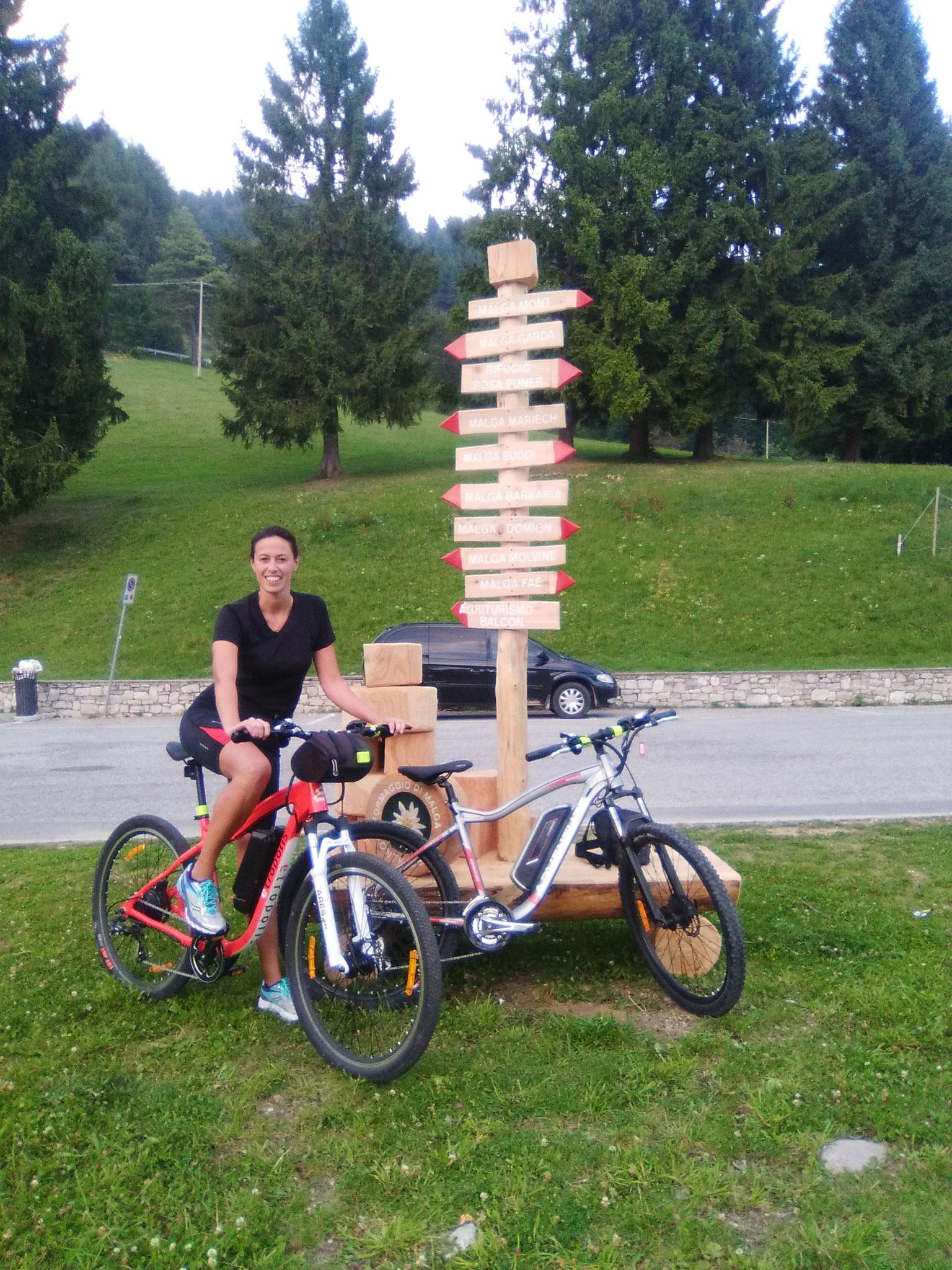 Punto Service, Pianezze di Valdobbiadene in e-bike