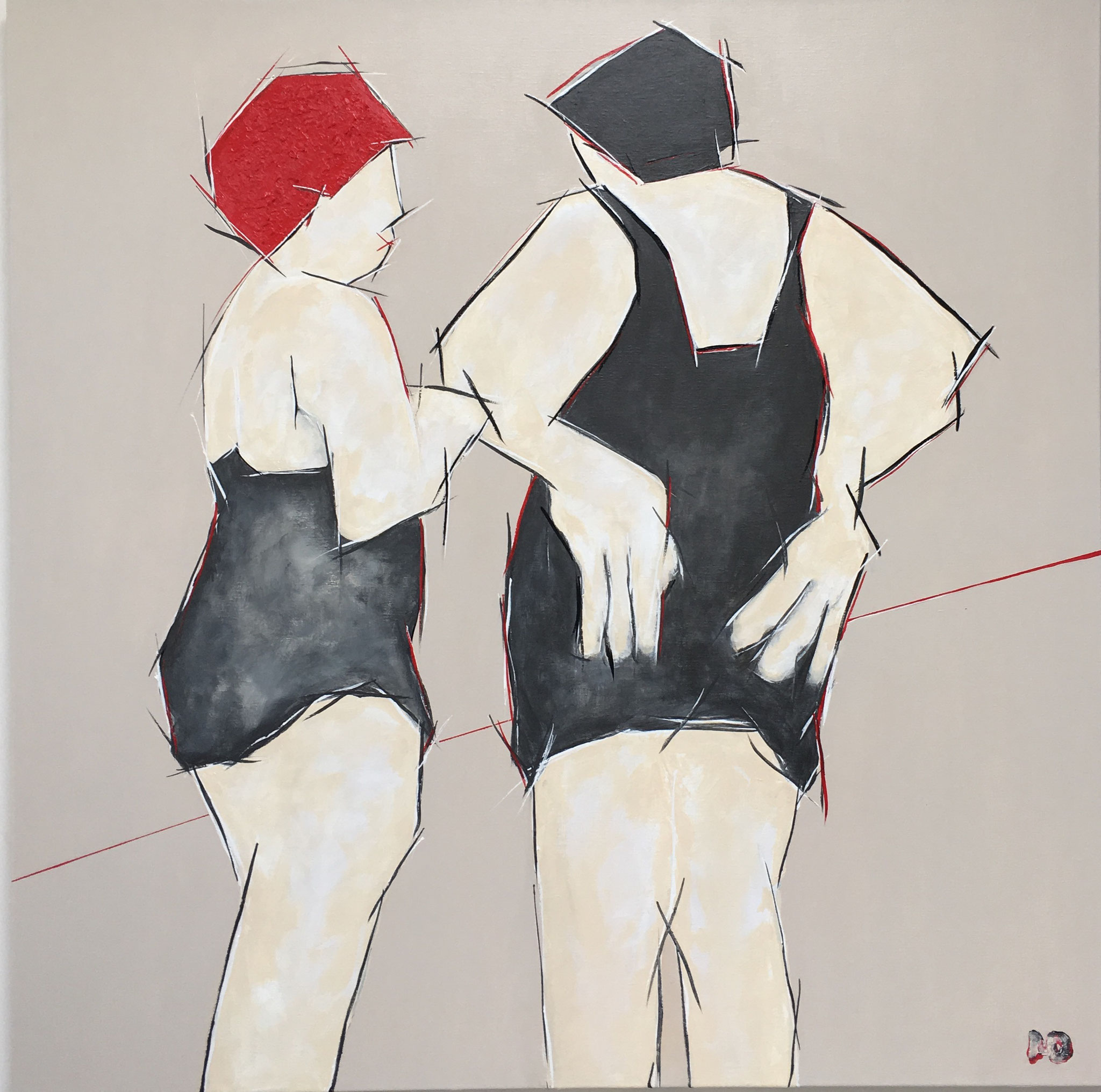 Girls' talk - Acryl - 120x120