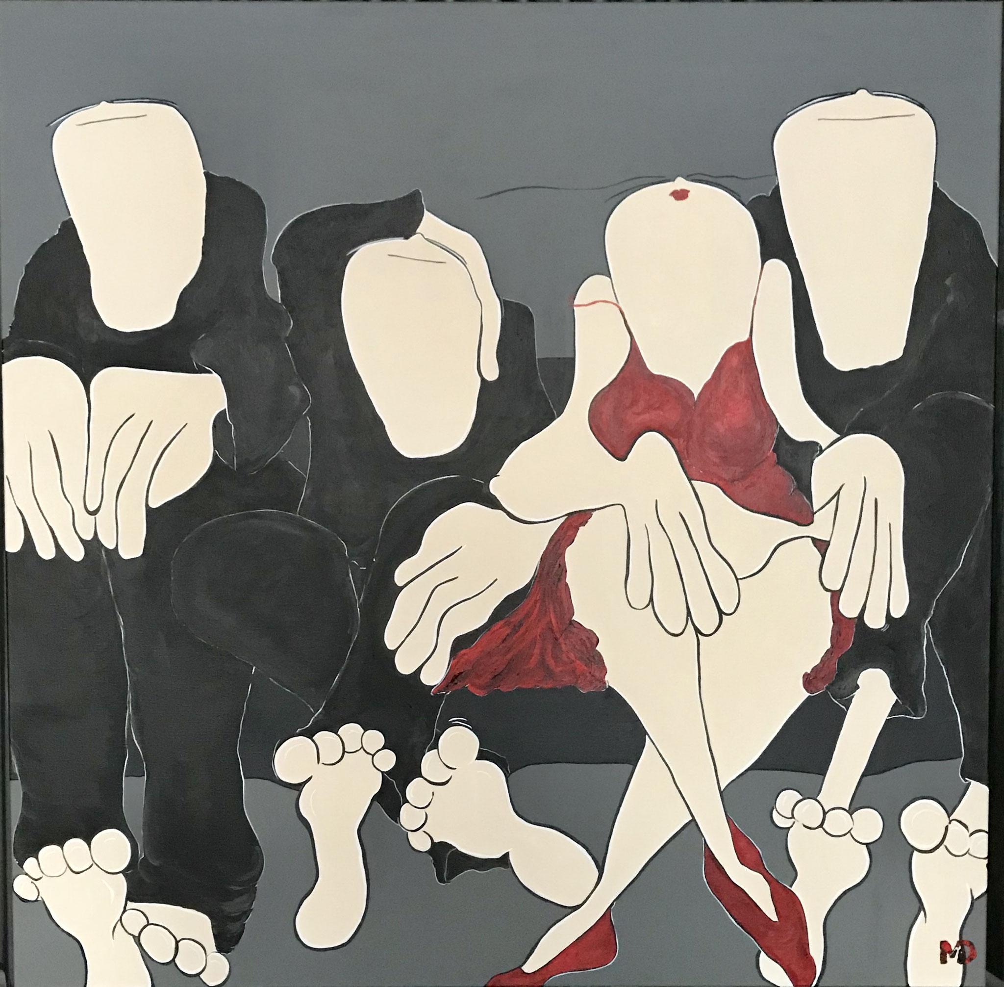 Family Affair - Acryl - 120x120